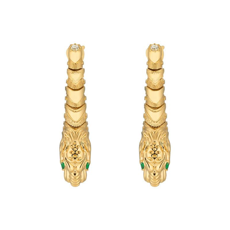 Gucci Dionysus yellow gold earrings l00Vf6