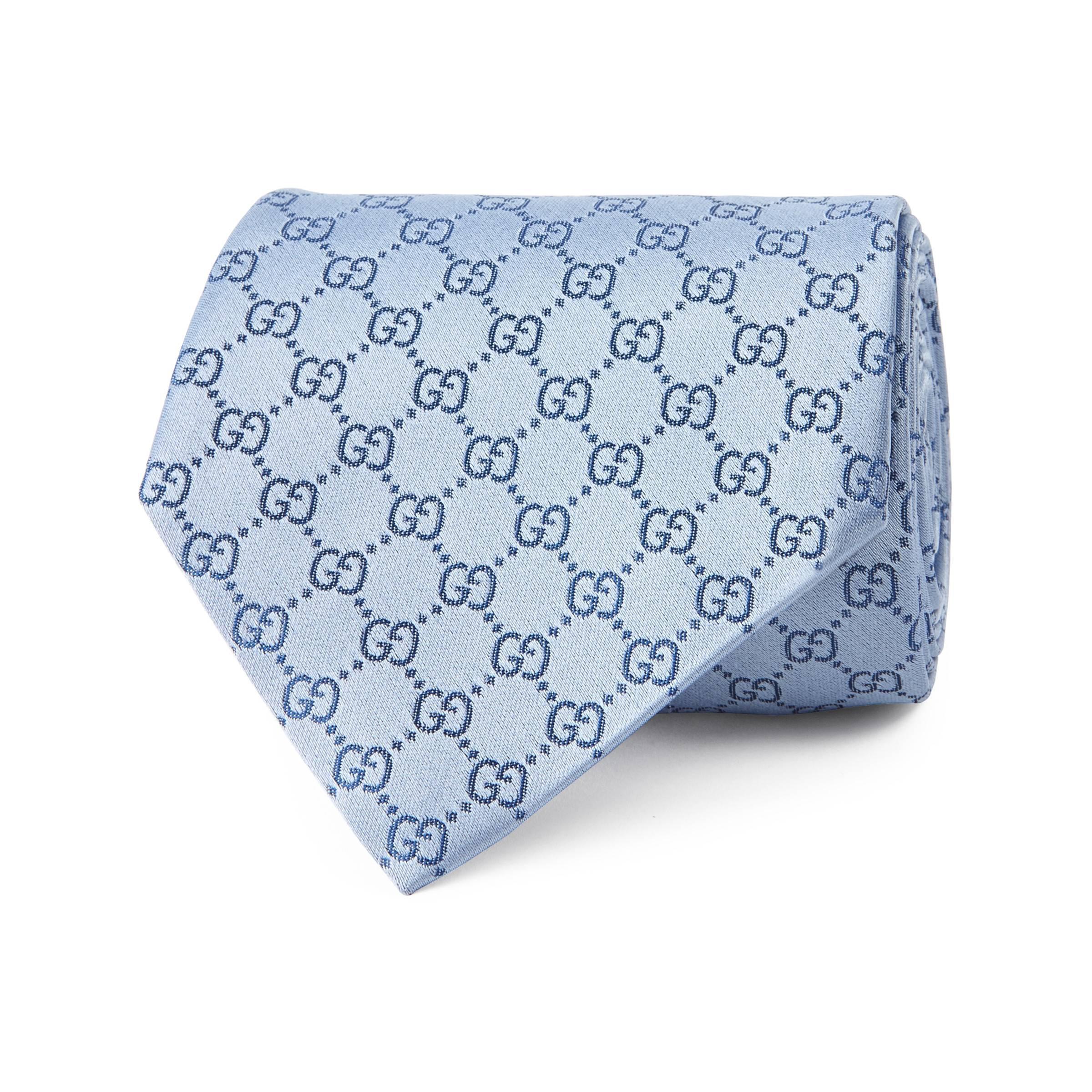 e6bdbf30ac9 Gucci - Blue GG Pattern Silk Tie for Men - Lyst. View fullscreen
