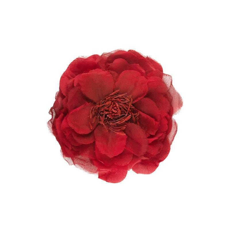 Lyst gucci flower pin in silk in red gucci womens red flower pin in silk mightylinksfo