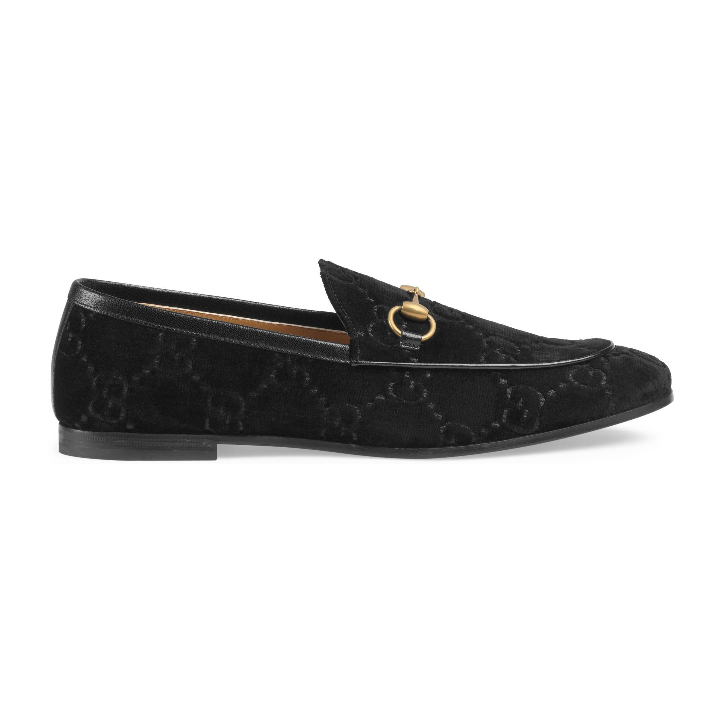 7fb0591ec0e Gucci Jordaan GG Velvet Loafer in Black for Men - Lyst