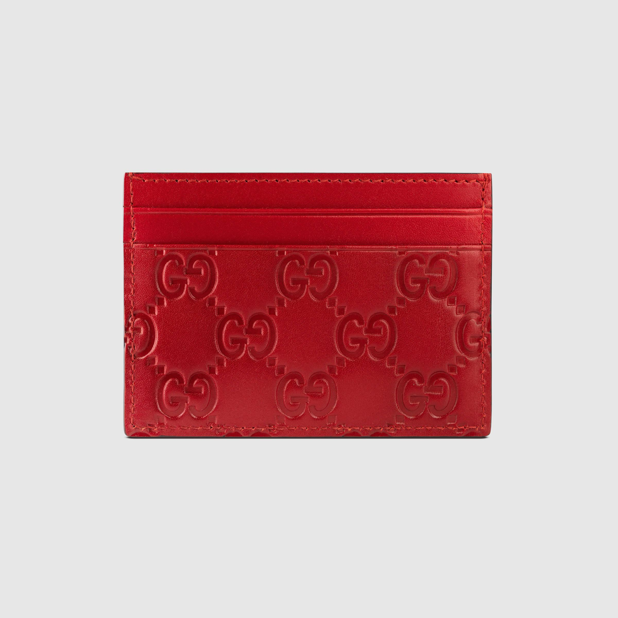 Lyst - Gucci Signature Leather Card Case for Men