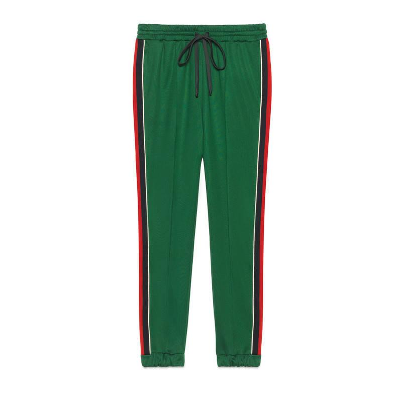43b65545e Gucci Technical Jersey Jogging Pant in Green - Lyst