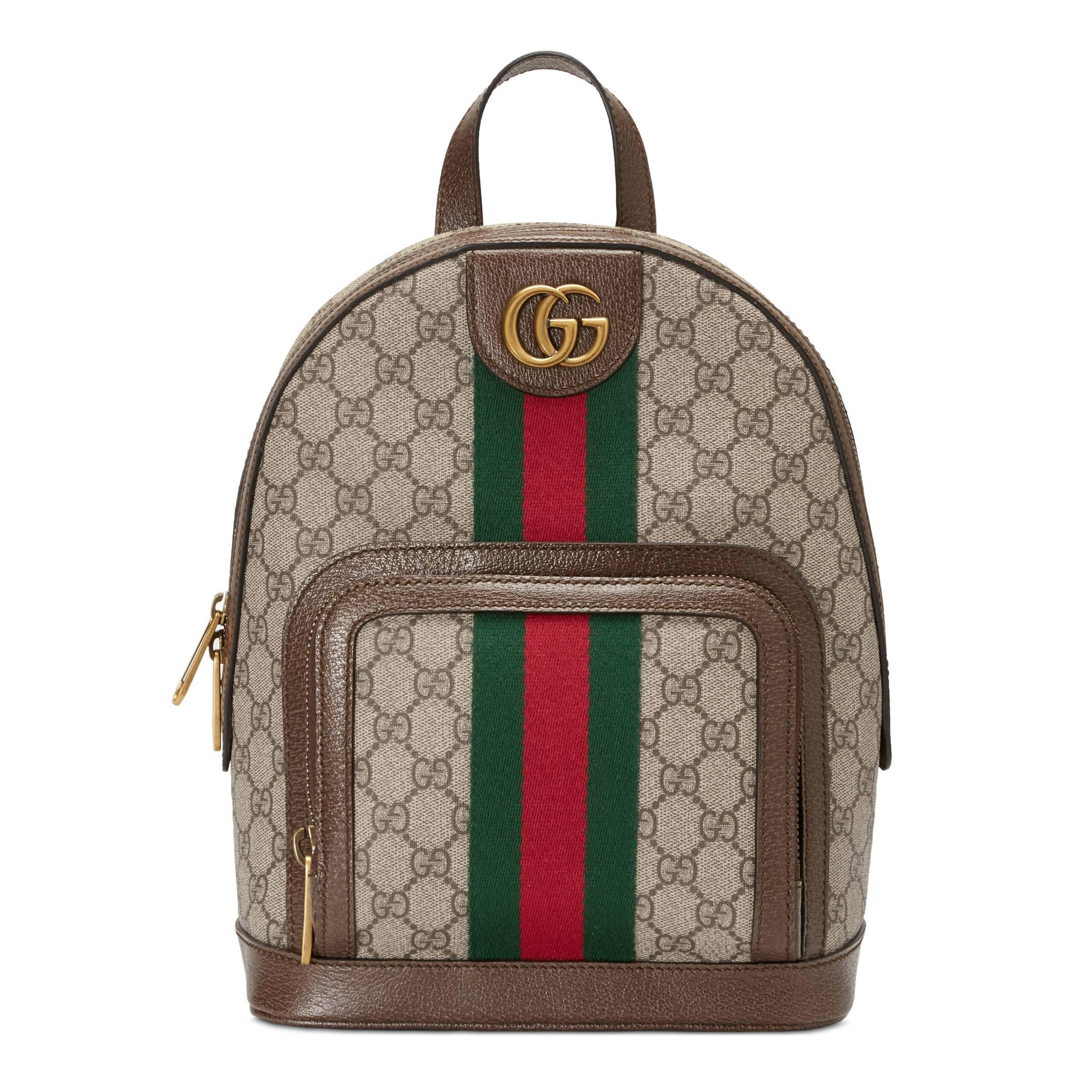 91a39d0dd7 Mochila Ophidia Pequeña con GG Gucci - Lyst