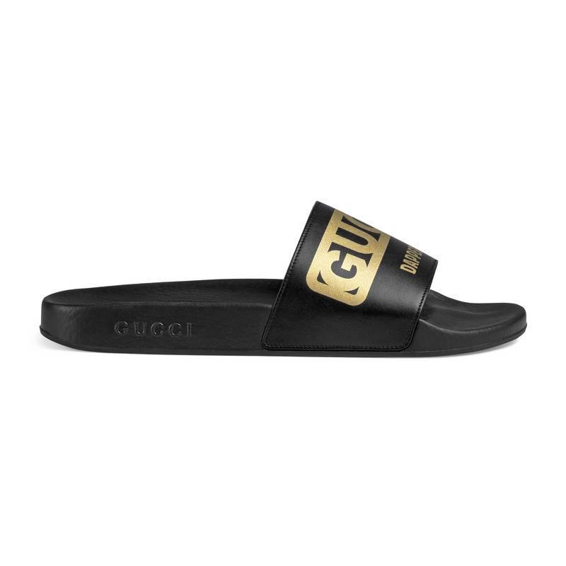 2c8cb4ad8b2a Gucci Men s -dapper Dan Slide Sandal in Black for Men - Lyst