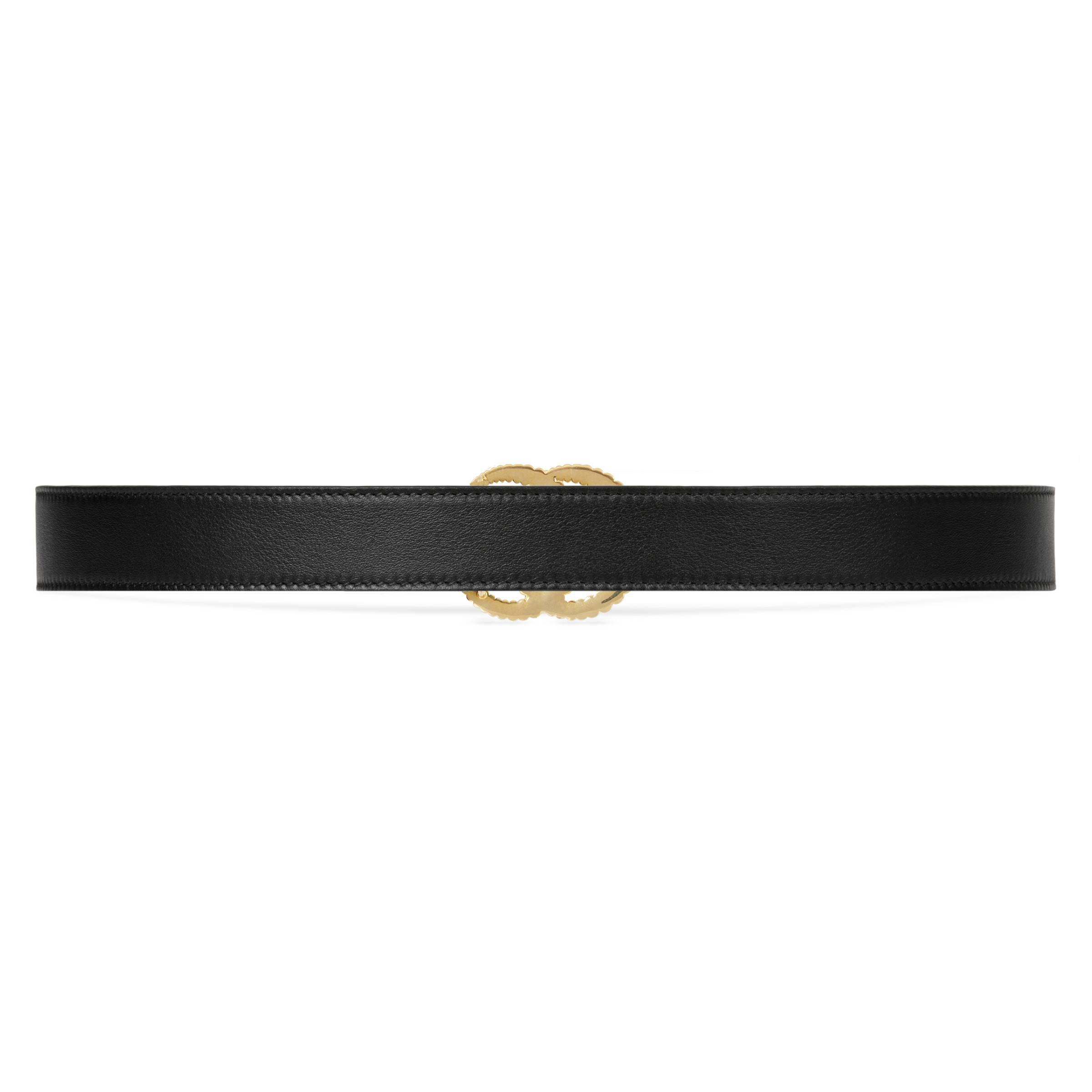 83ef0ed118a Gucci - Black Leather Belt With Torchon Double G Buckle - Lyst. View  fullscreen