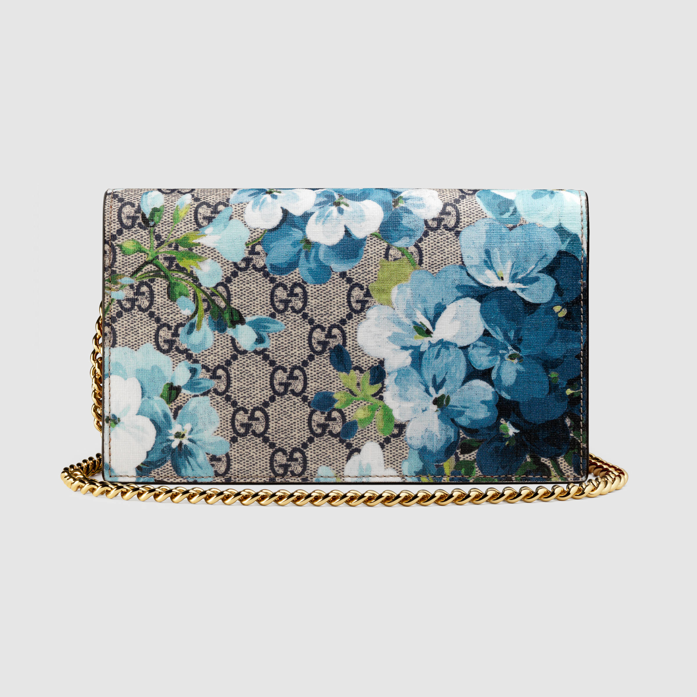 64805723632 Gucci Gg Blooms Wallet On Chain - Image Of Wallet