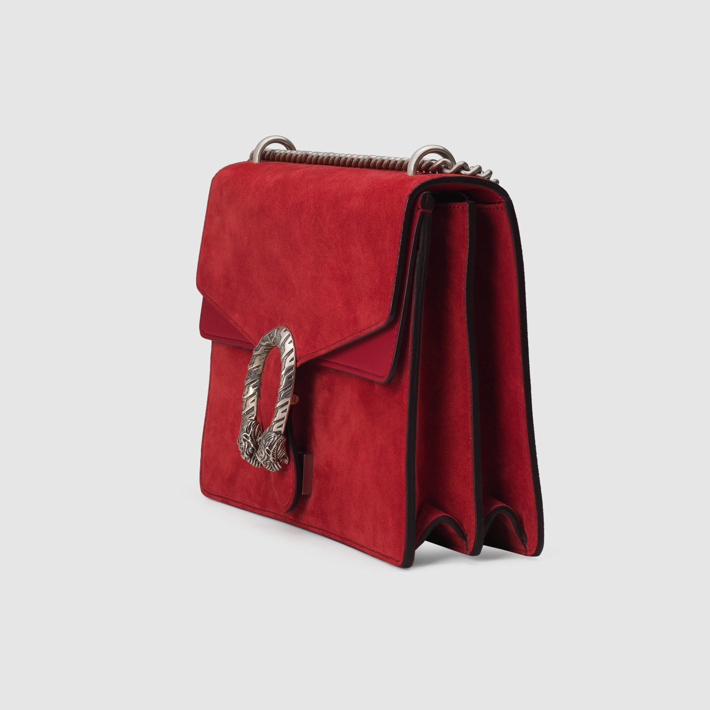 9476630b0395 Lyst Gucci Dionysus Suede Shoulder Bag In Red
