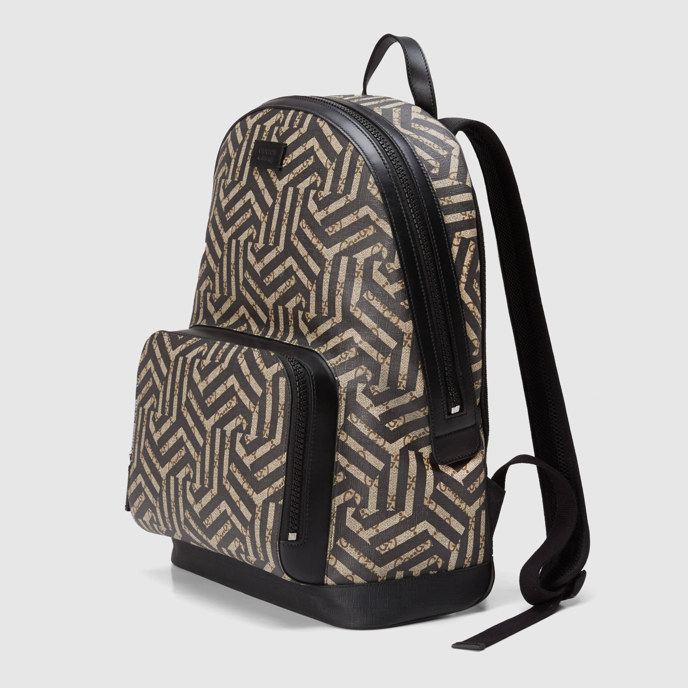 431b38da22b5 Gucci Gg Caleido Backpack in Black for Men - Lyst