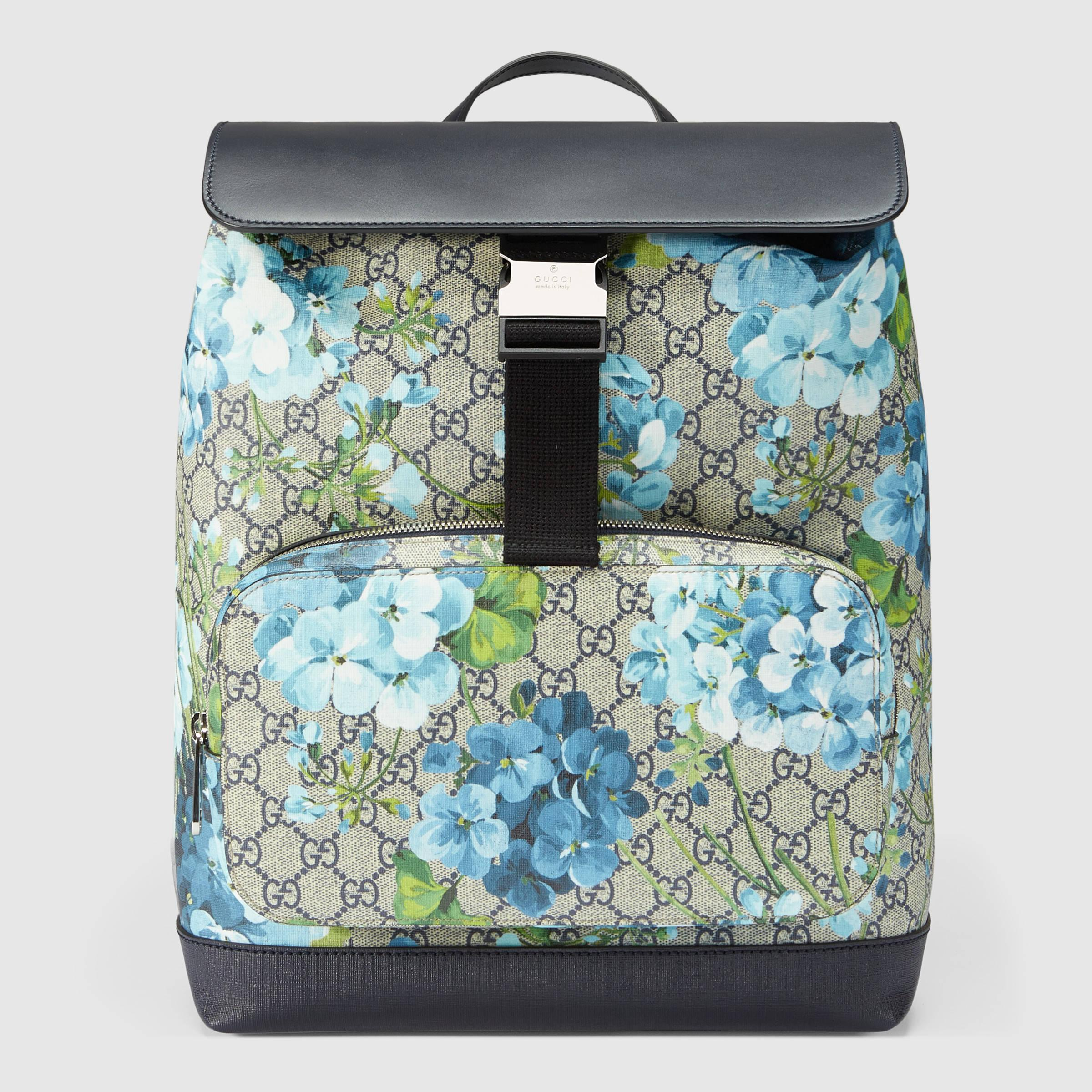 eba7b60be07cb4 Gucci Gg Blooms Backpack in Black - Lyst