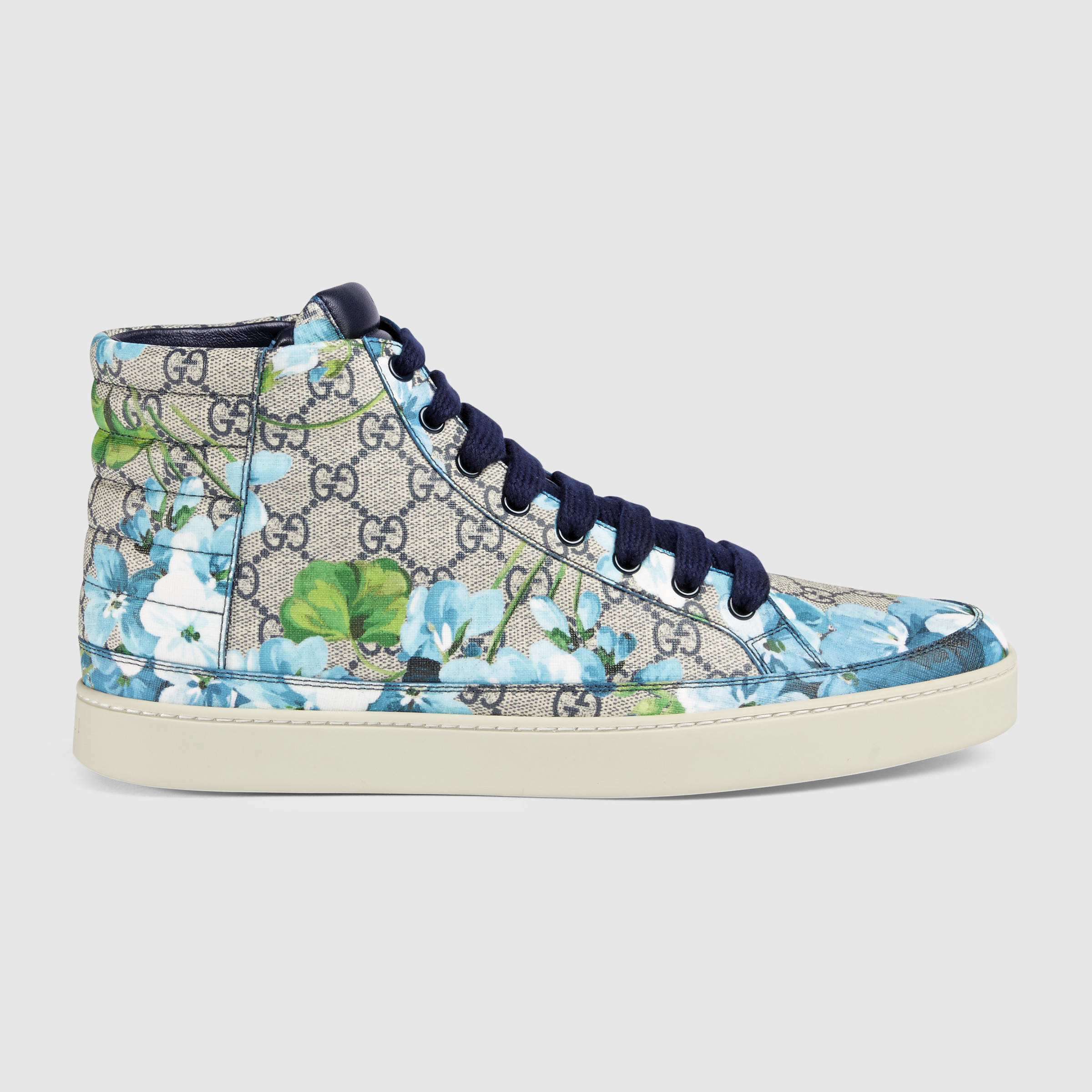 f1f6b5a4eaa2a9 Gucci Gg Blooms High-top Sneaker in Blue for Men - Lyst