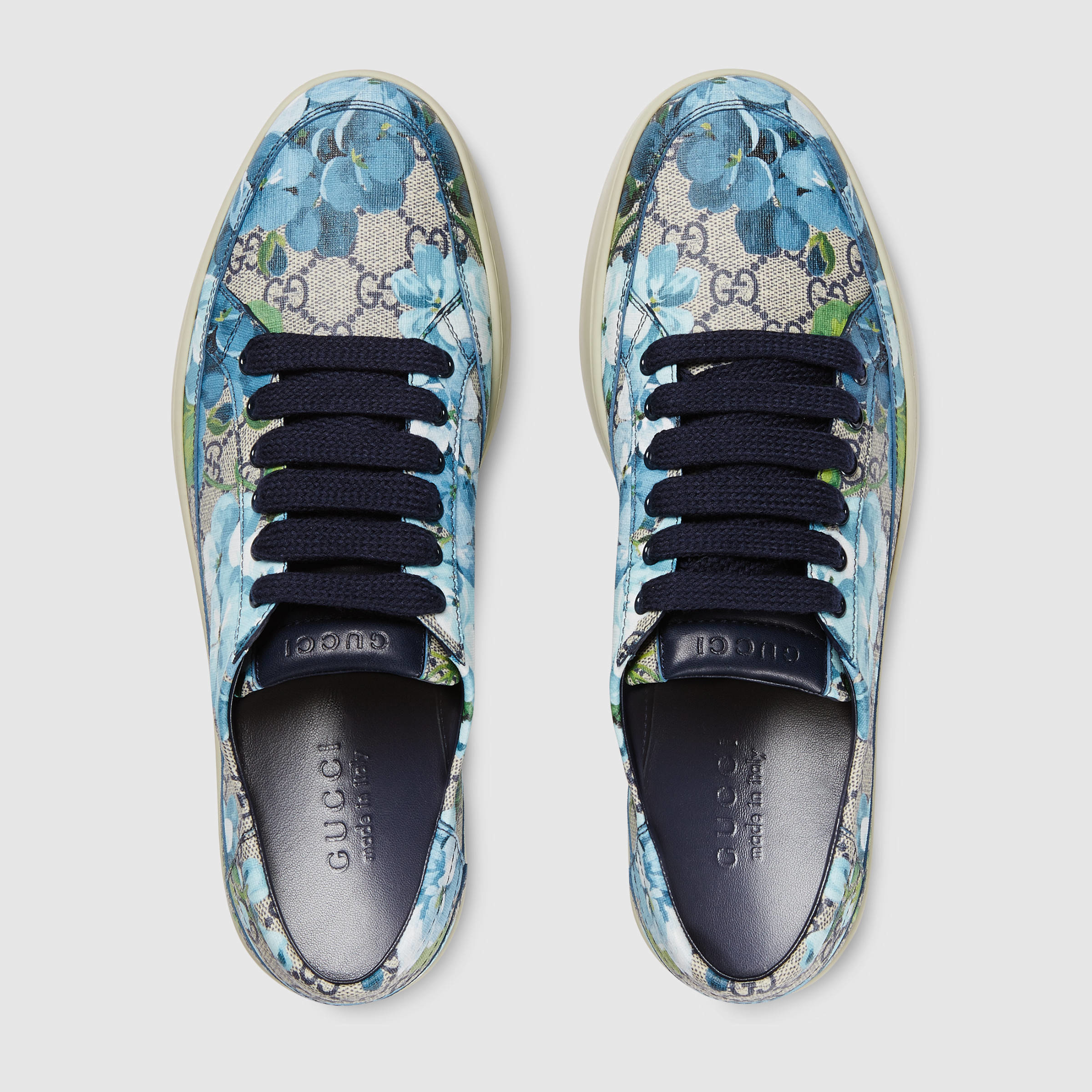 b1f8c0a40ea Gucci Gg Blooms Low-top Sneaker in Blue for Men - Lyst