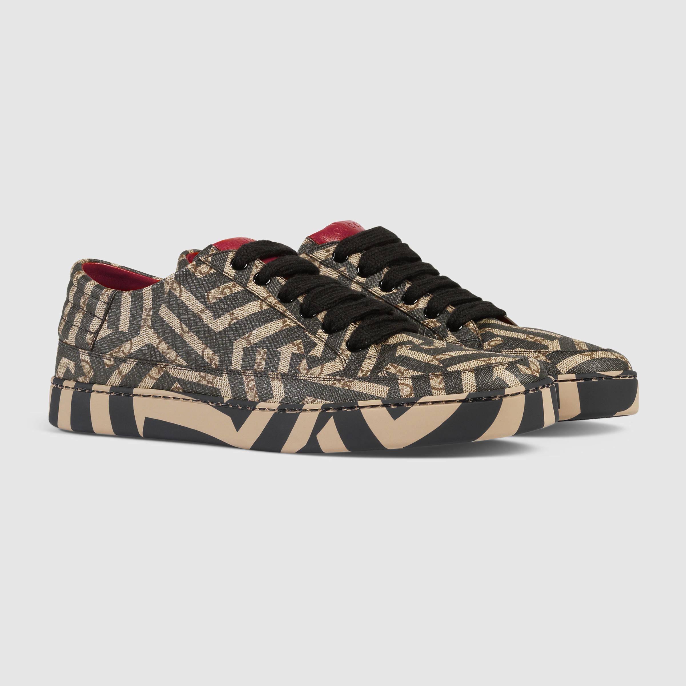 cf90e5ec5839a Gucci Gg Caleido Low-top Sneaker in Brown for Men - Lyst