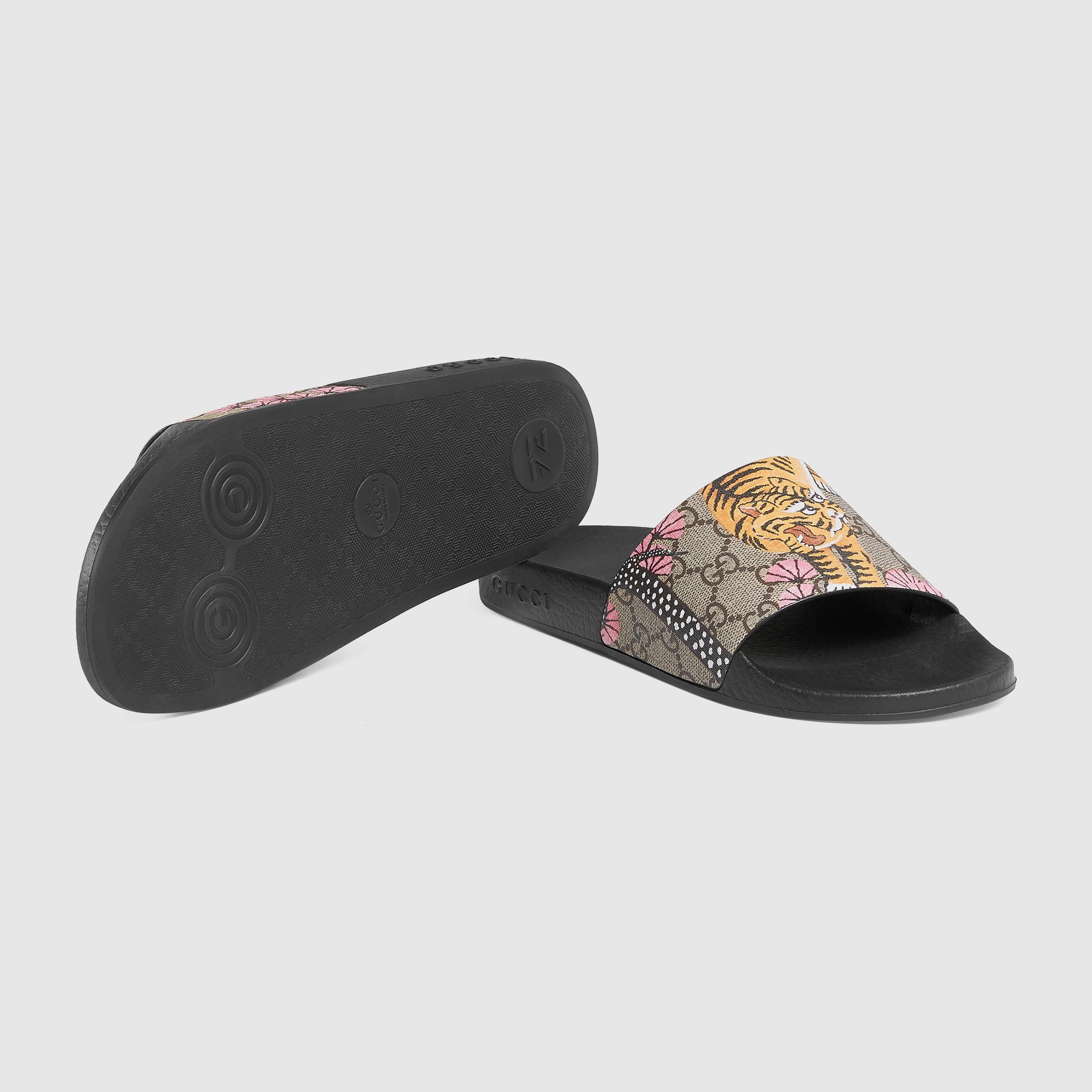 880f33f9d223d Lyst - Gucci Pursuit Bengal Slide Sandal