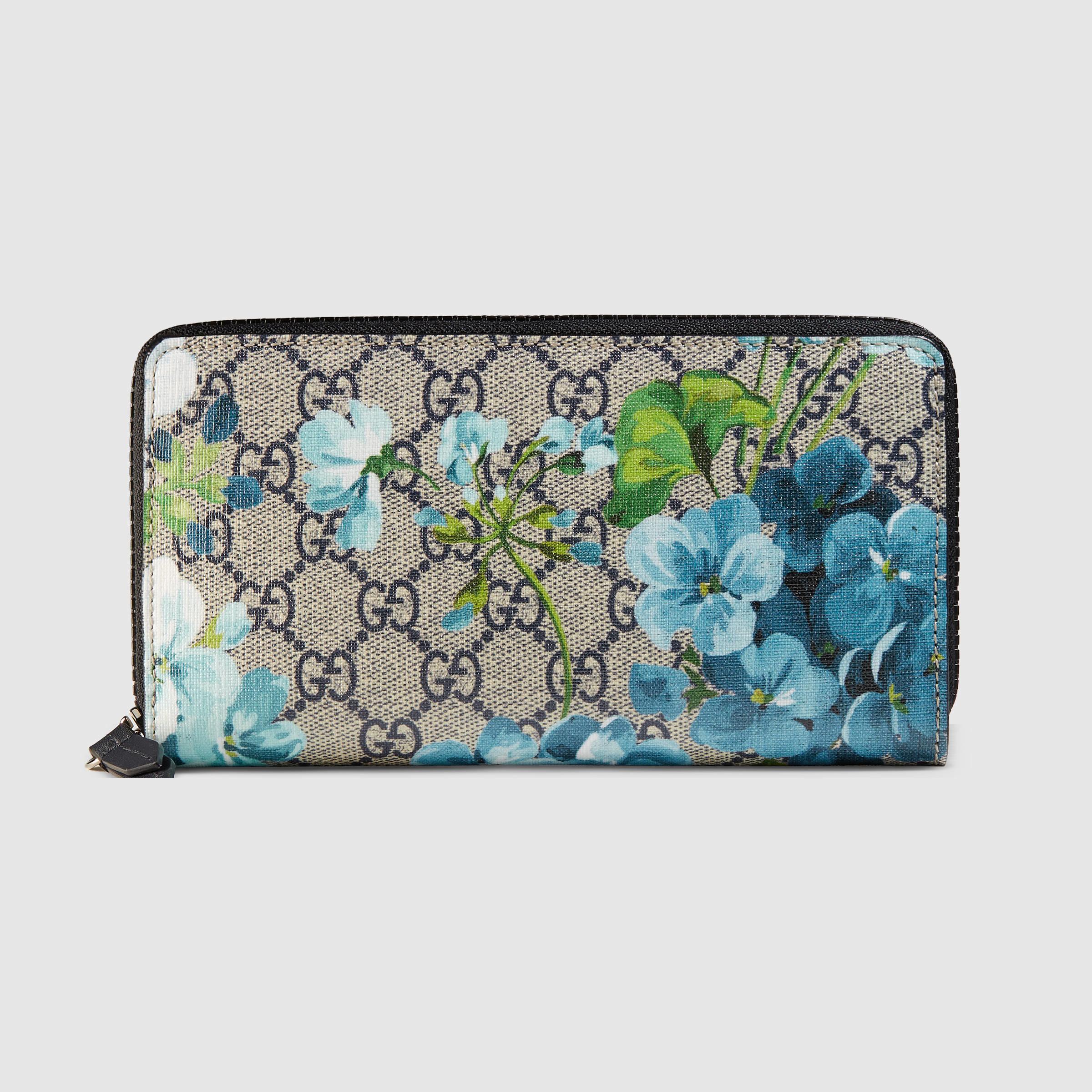 628c729fbf74 Gucci Gg Blooms Zip Around Wallet Green | Stanford Center for ...