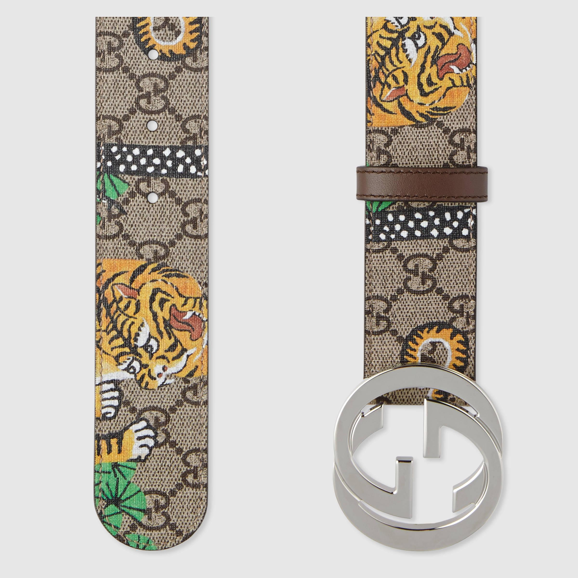 6d7cb73558c Gucci Bengal Gg Supreme Belt in Metallic for Men - Lyst