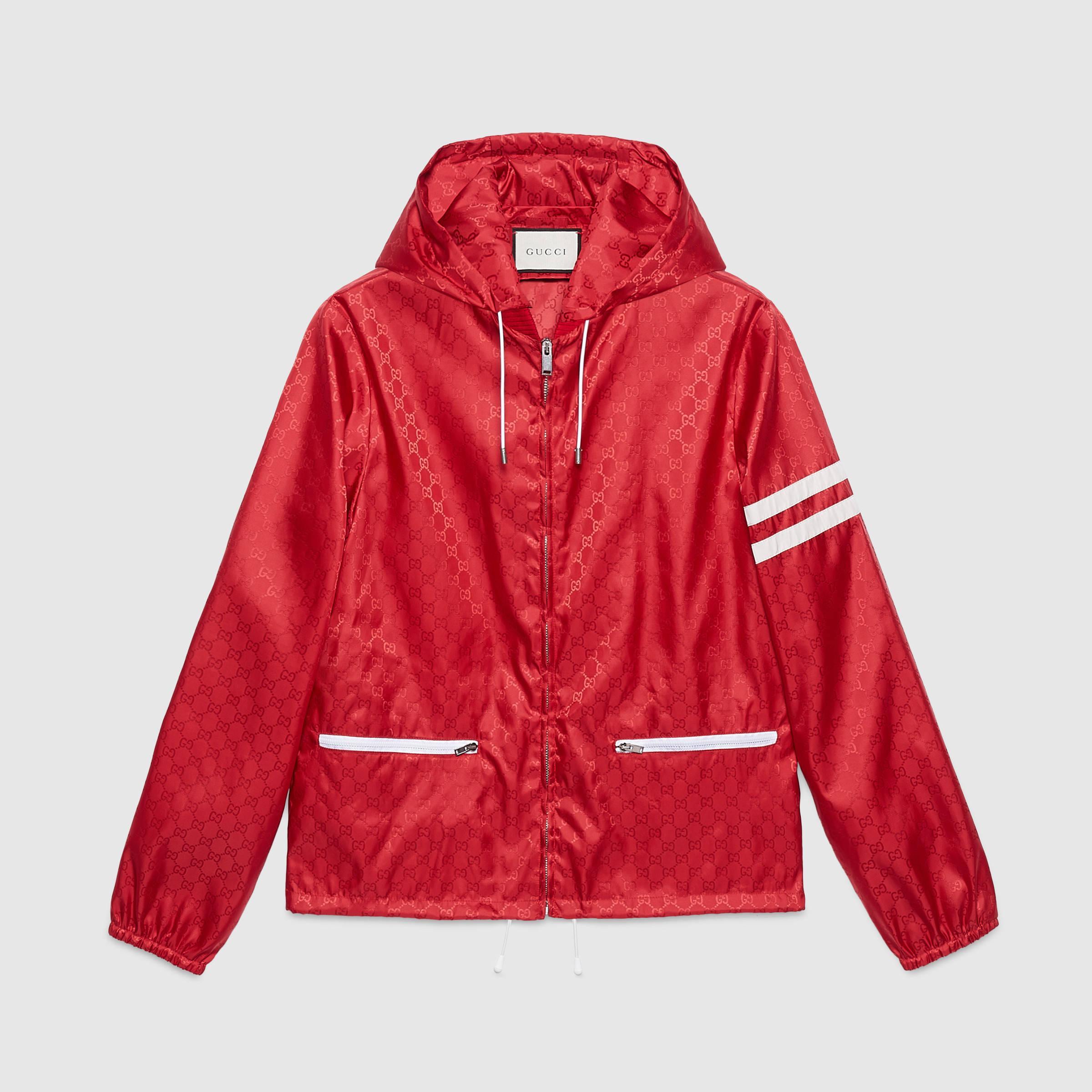 0b40d62d5 Gucci Nylon Windbreaker in Red for Men - Lyst