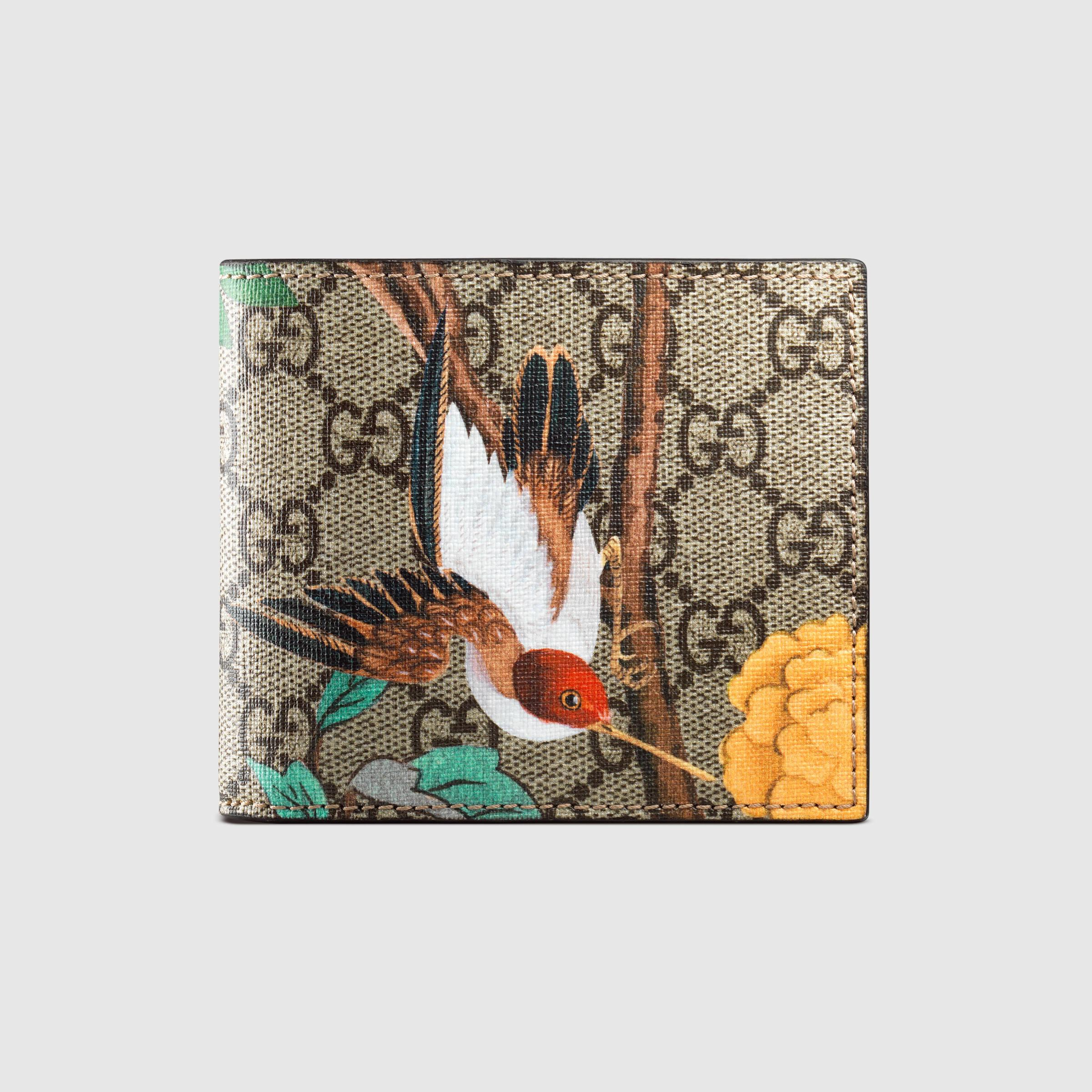 b847628c5c58 Gucci Tian Gg Supreme Wallet in Brown for Men - Lyst
