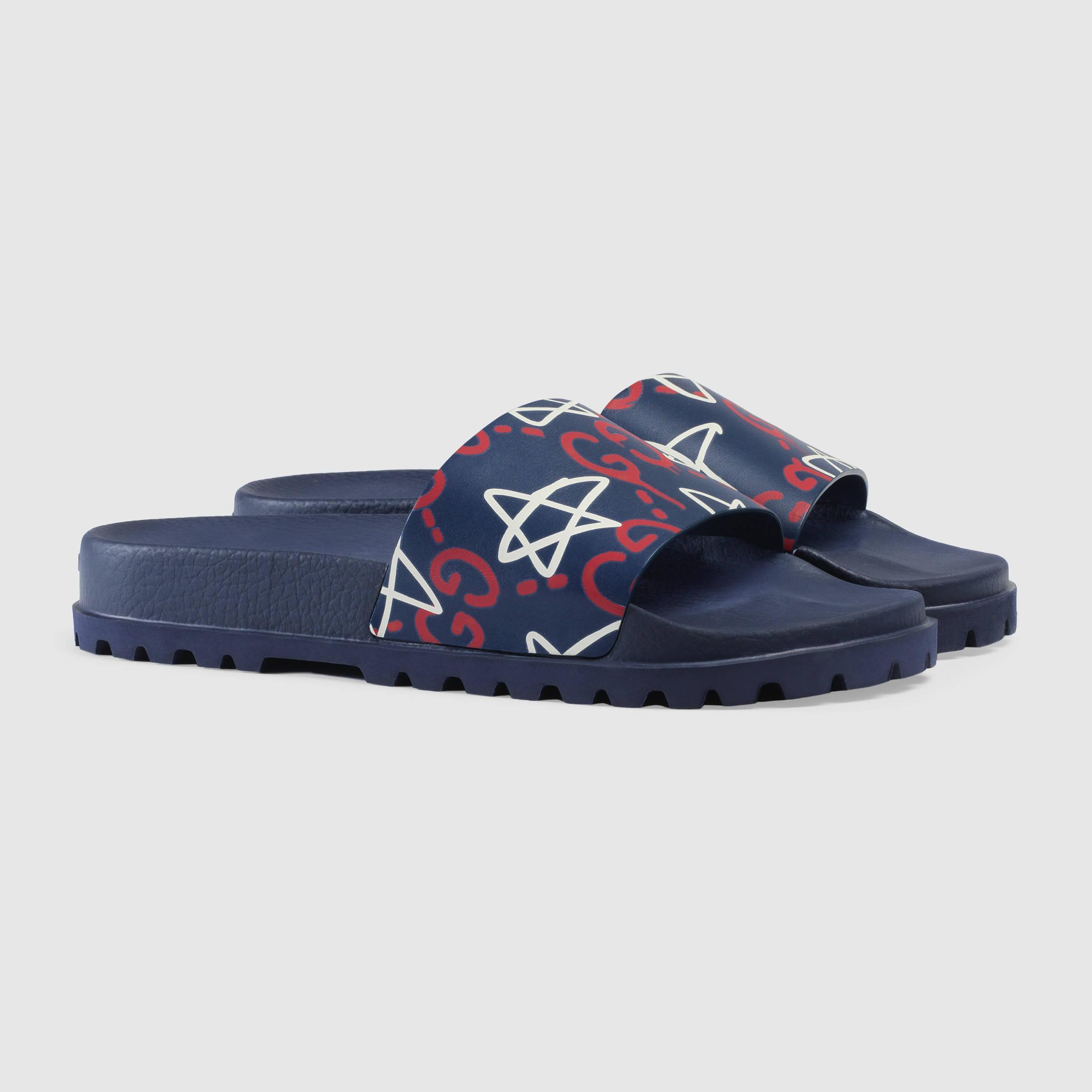 2a24de3e9aa4 Lyst - Gucci Ghost Slide Sandal for Men