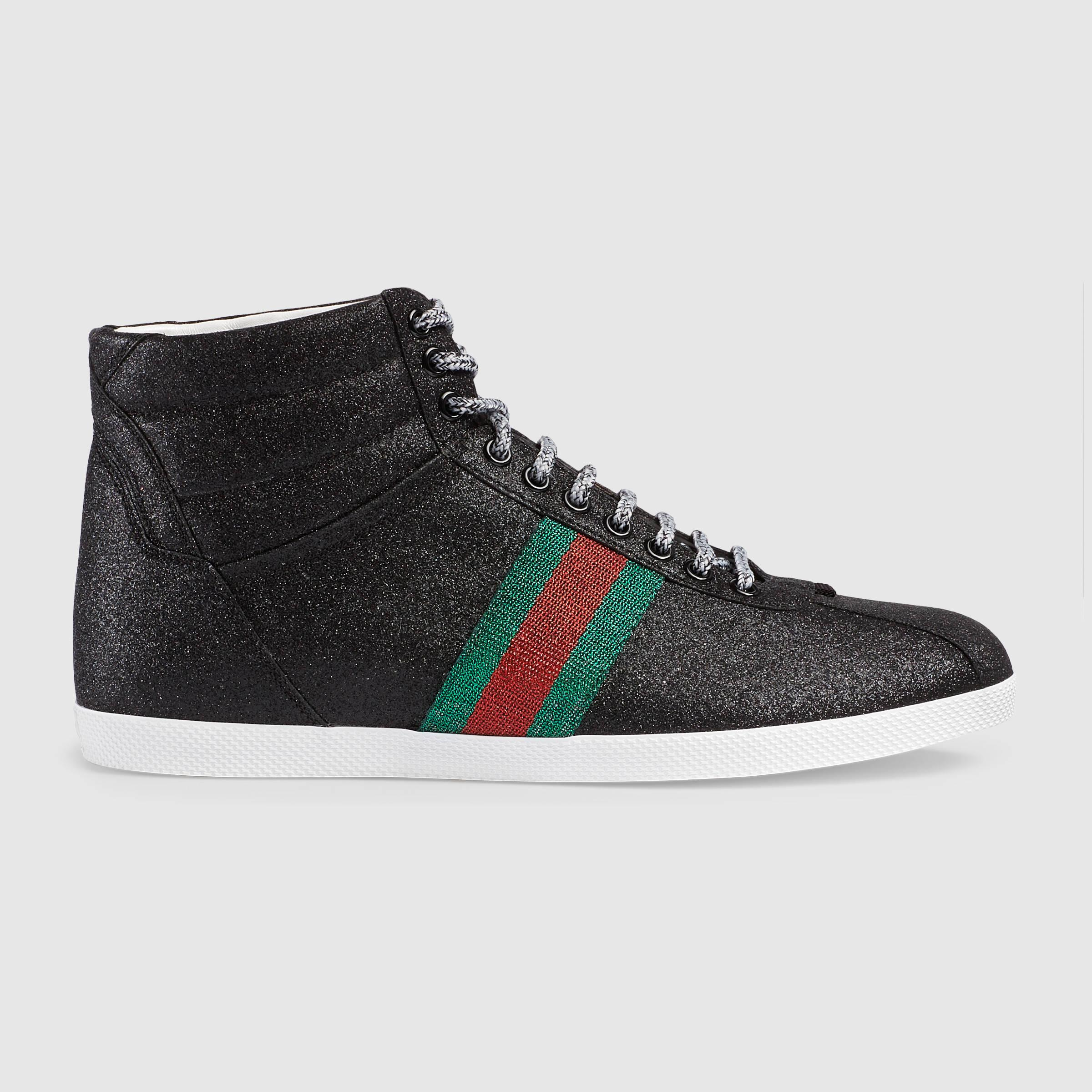 735718f77 Gucci Glitter Sneakers Black Related Keywords & Suggestions - Gucci ...