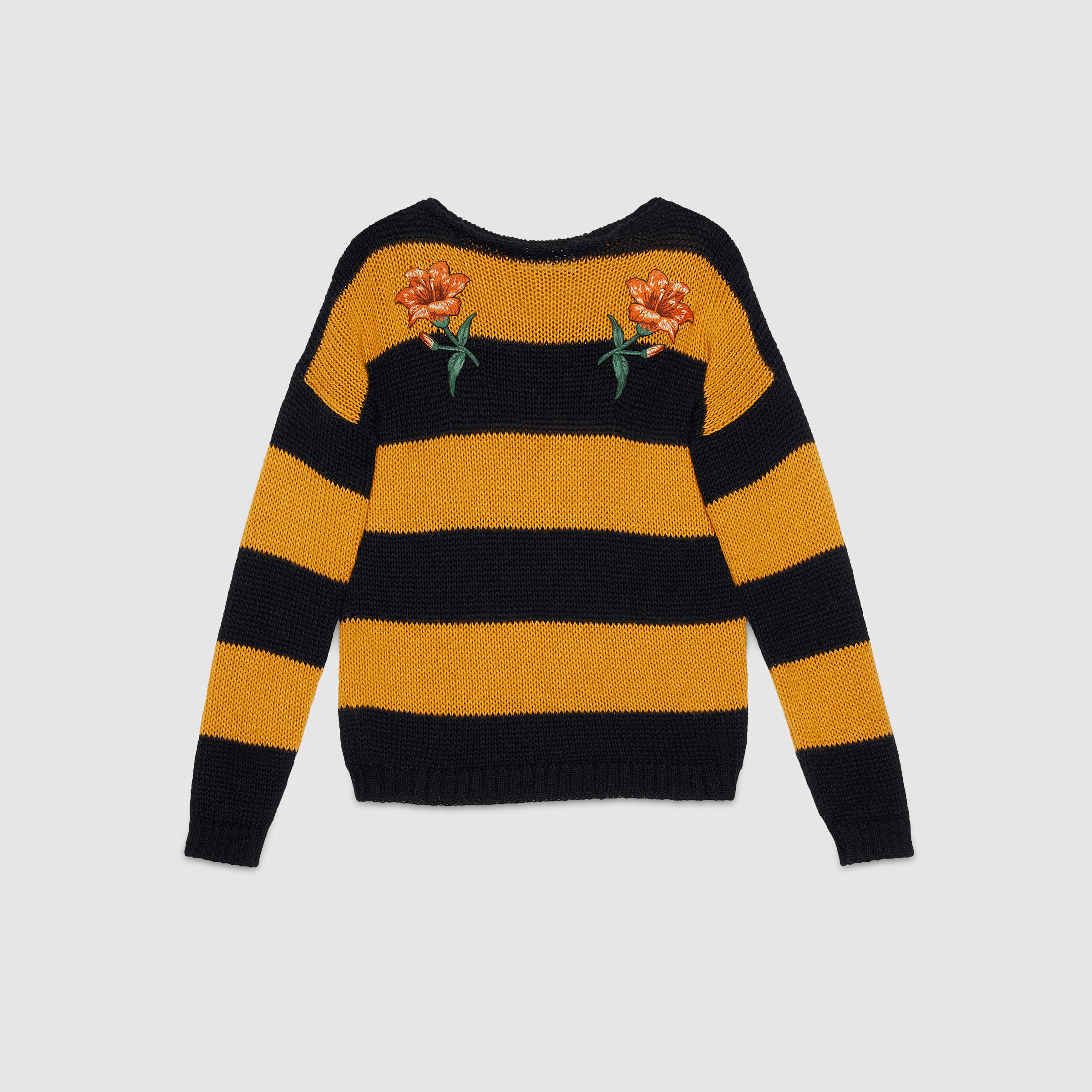 Gucci Sweater With Flower Appliquã©s in Black for Men | Lyst