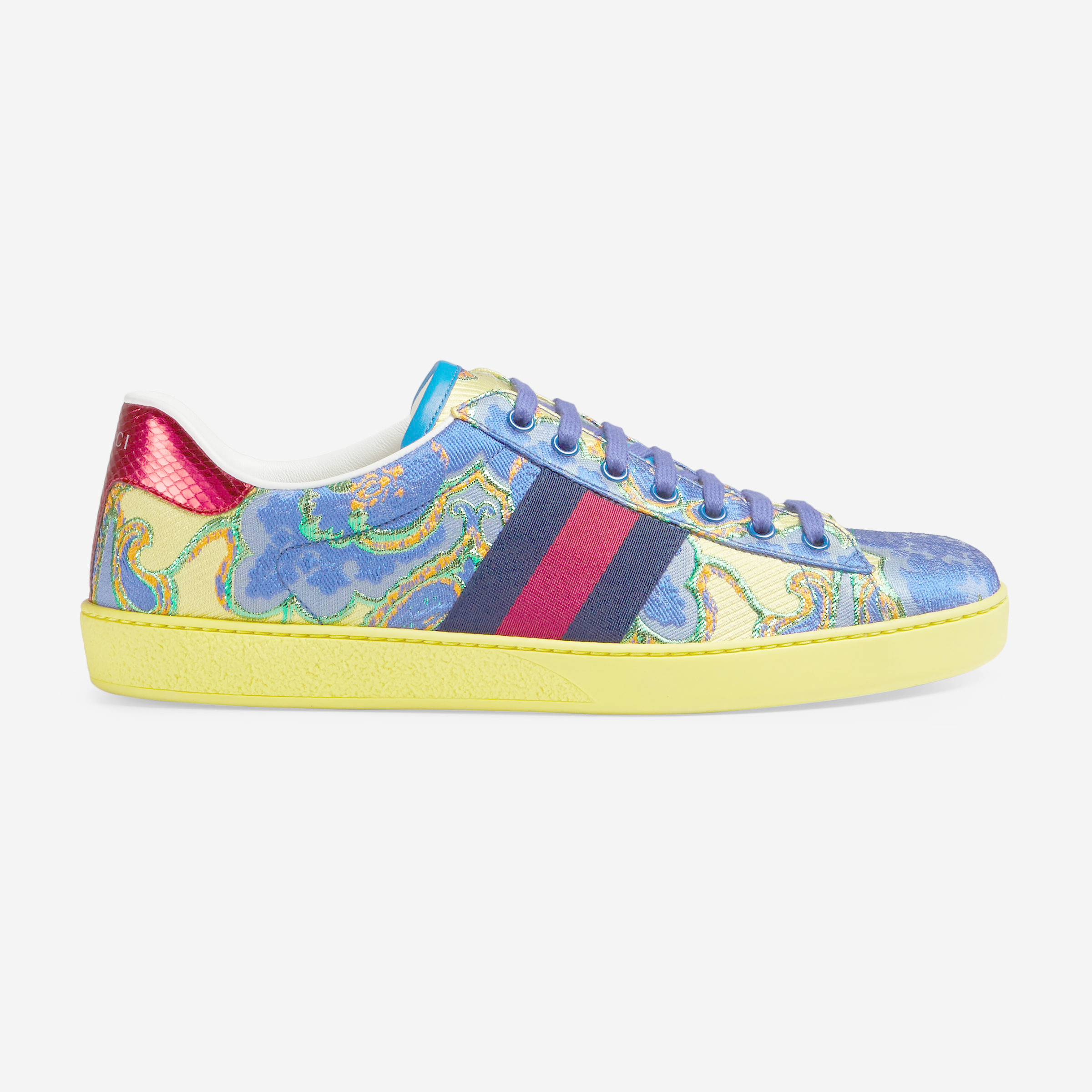 0646542011f Lyst - Gucci Ace Floral Jacquard Low-top Sneaker for Men