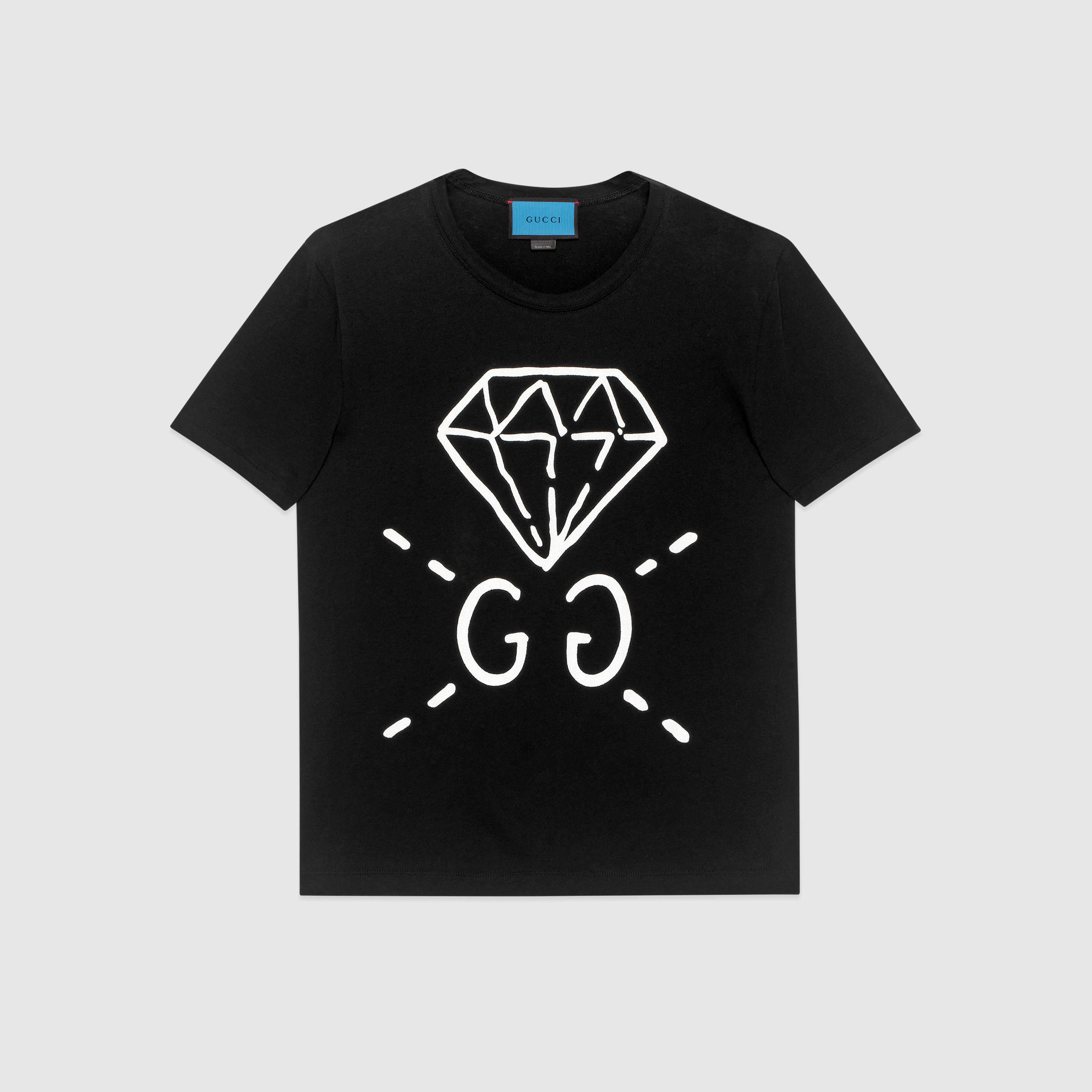 Lyst Gucci Ghost Cotton T Shirt In Black For Men
