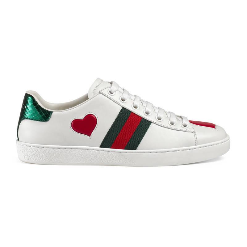 gucci ace embroidered low top sneaker in white lyst. Black Bedroom Furniture Sets. Home Design Ideas