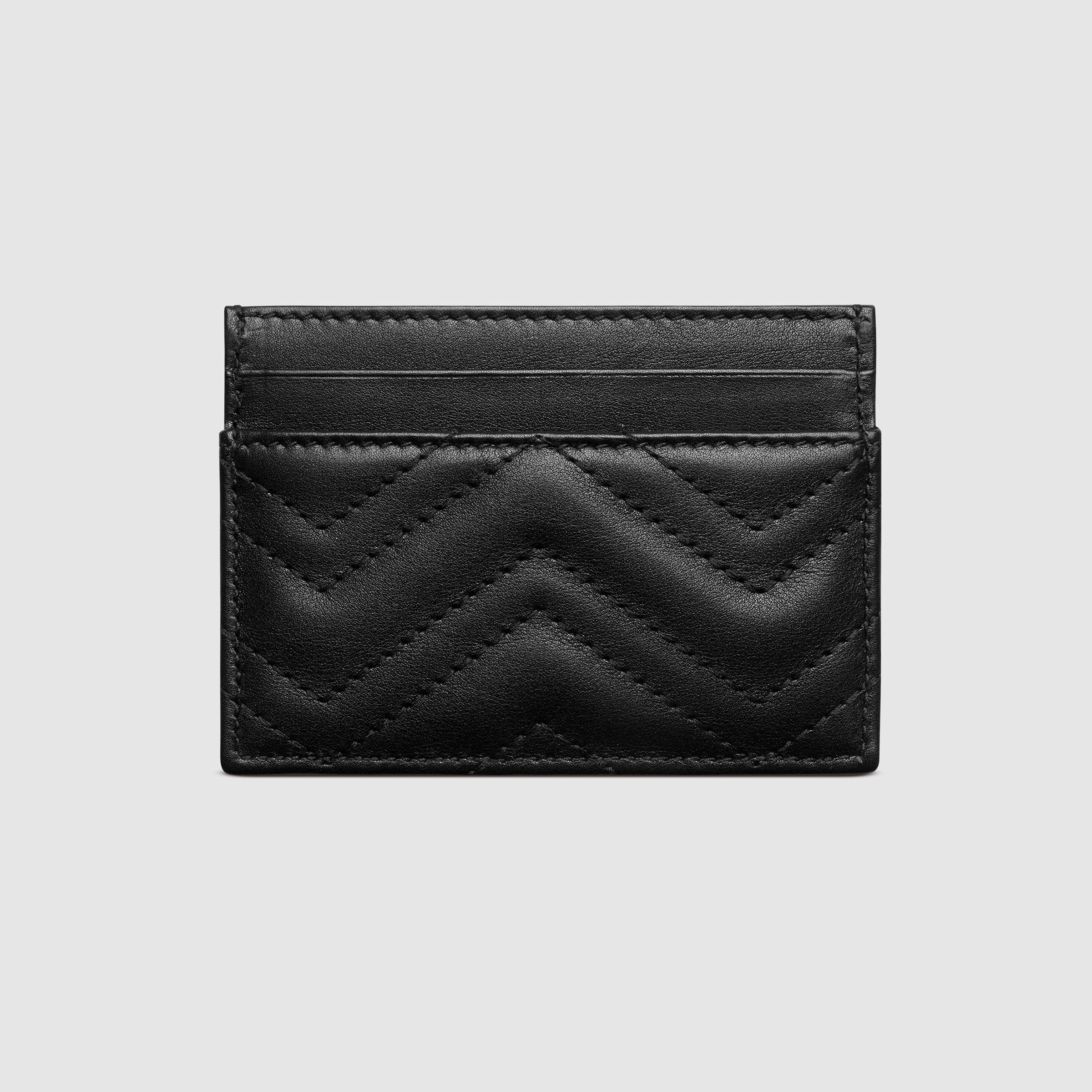 Lyst Gucci Gg Marmont Card Case In Black
