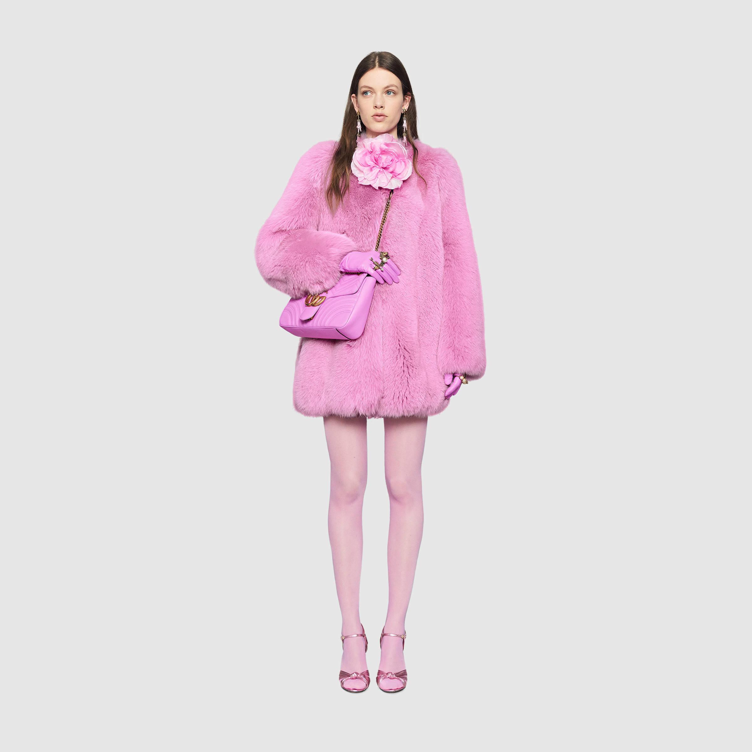 f41e6392d Gucci Fox Fur Coat - Lyst