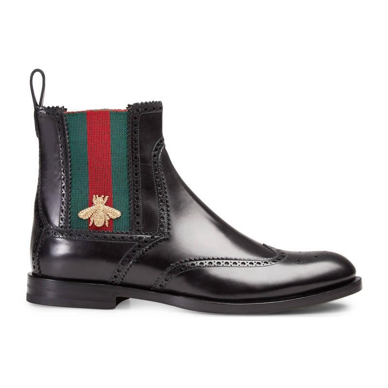 Black gucci boots for men