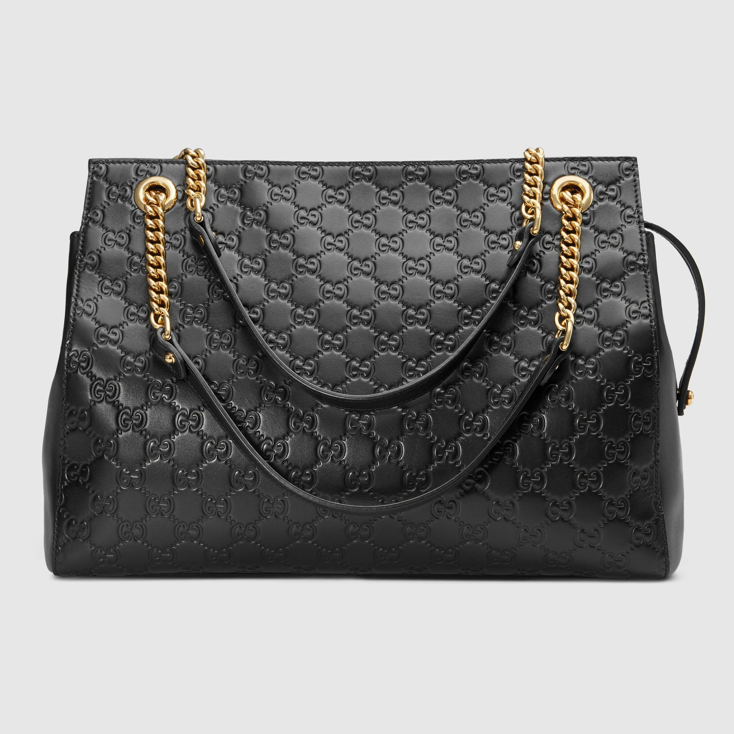 adf720c69 Gucci Soft Signature Shoulder Bag - Lyst