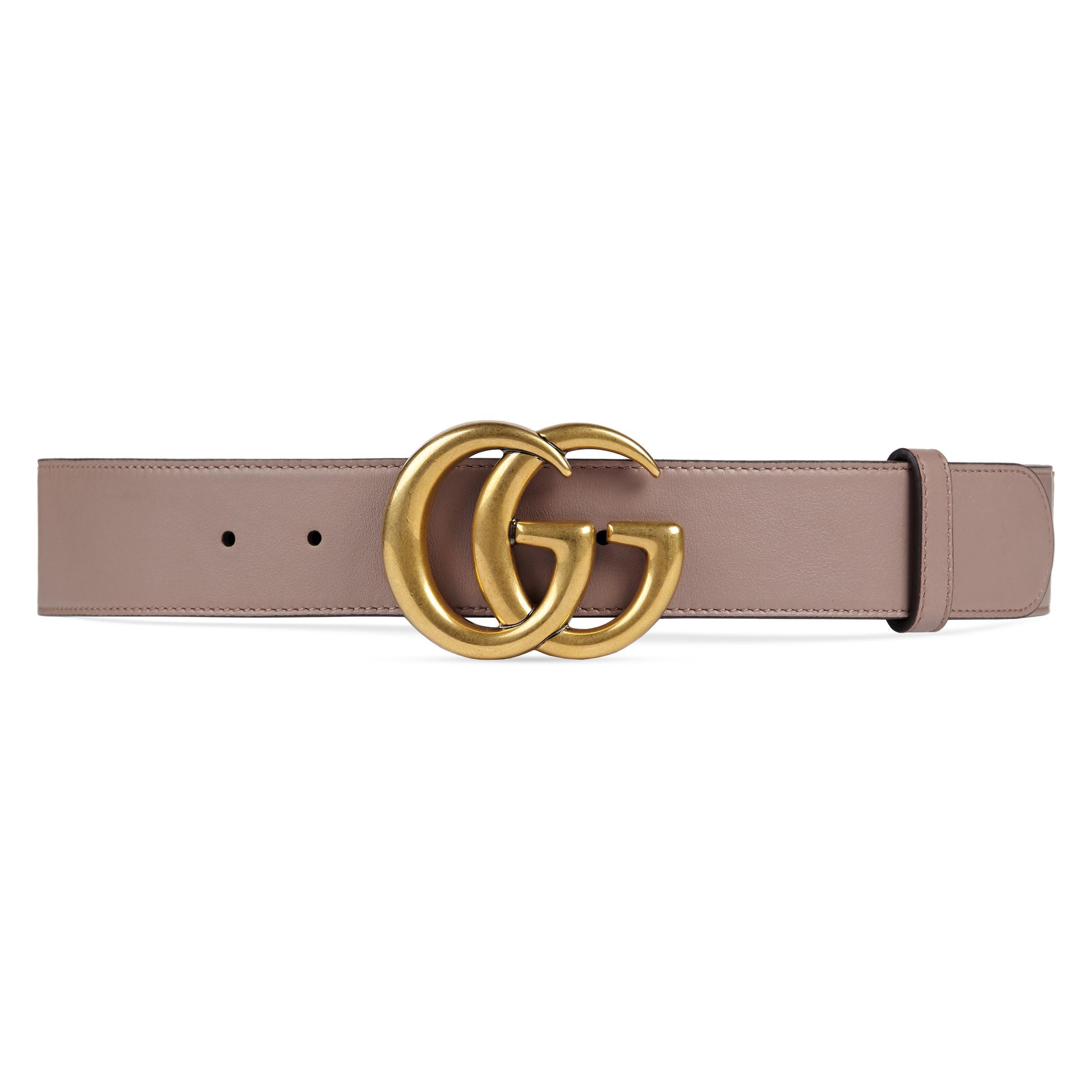 a50869da6 Gucci - Natural Cinturón de Piel con Hebilla de Doble G - Lyst. Ver en  pantalla completa