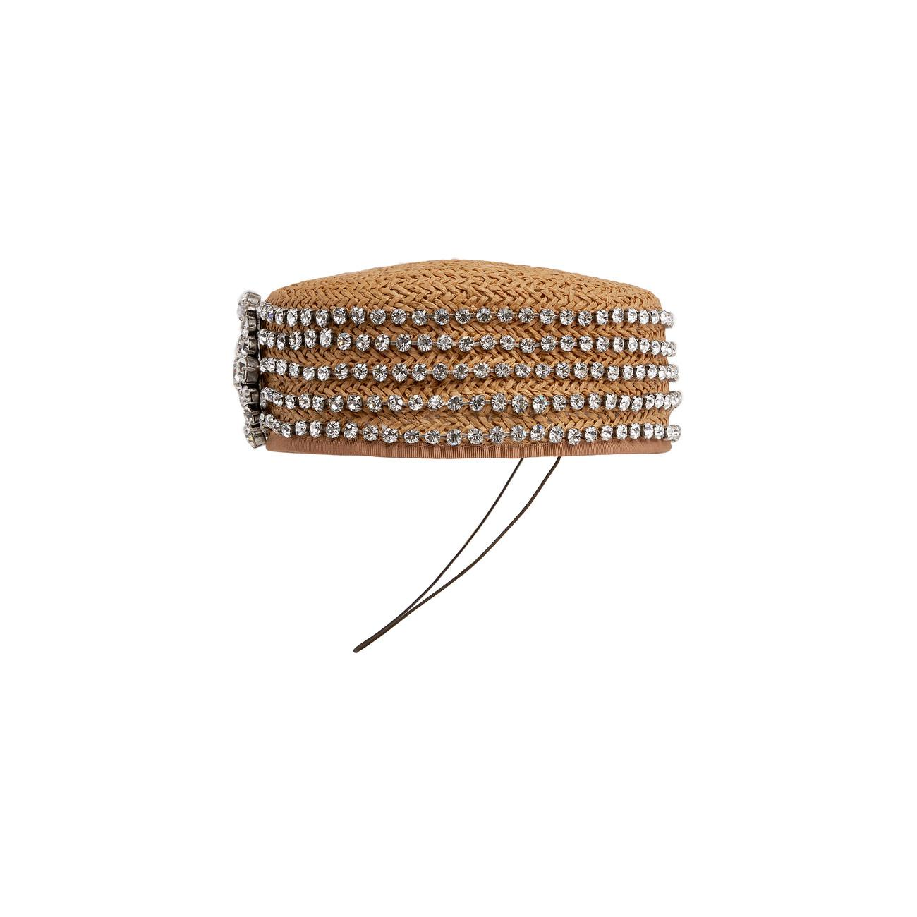 0e4dae75149 Gucci - White Papier Hat With Crystals - Lyst. View fullscreen