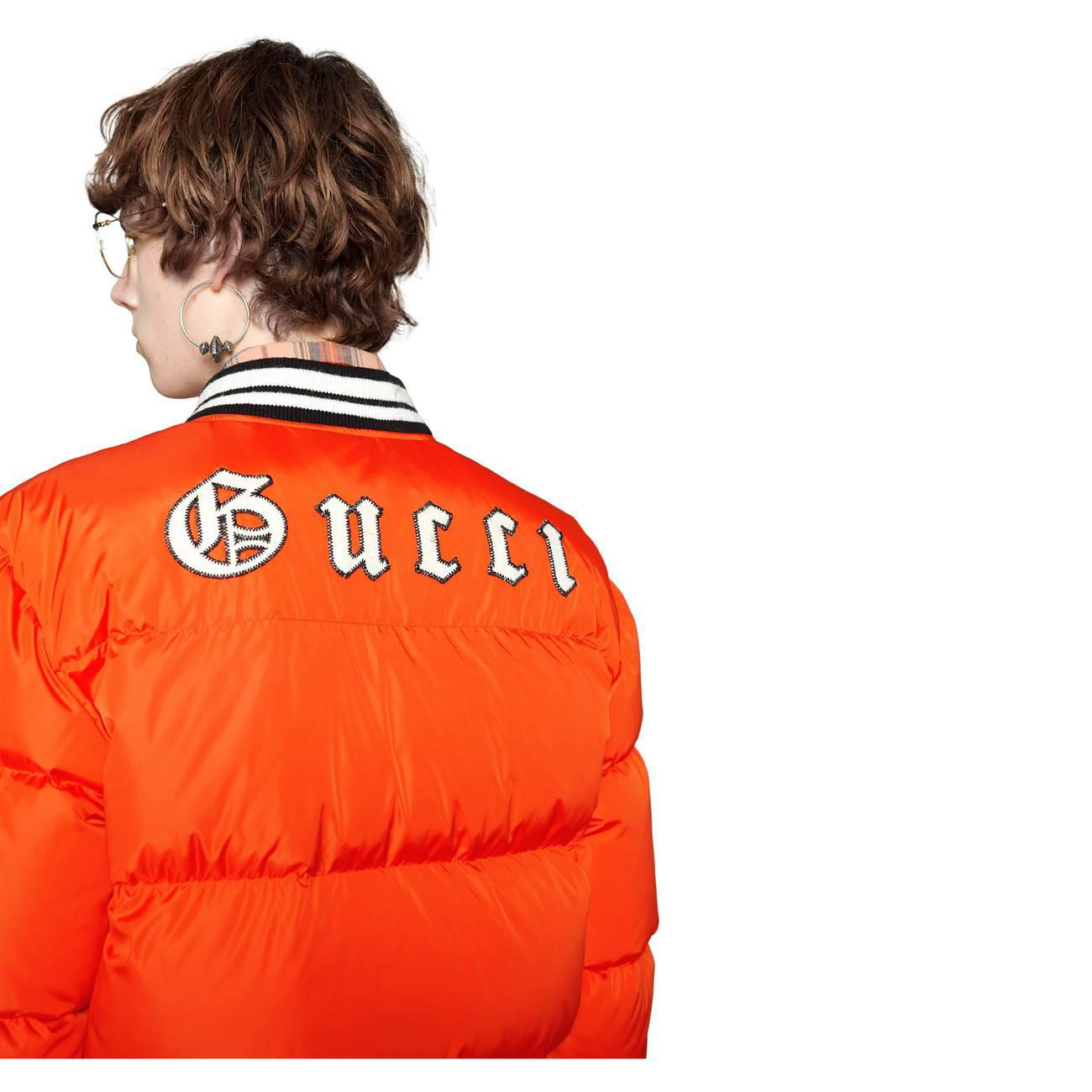 d525df3b0143c Gucci - Orange + New York Yankees Appliquéd Quilted Shell Down Jacket for  Men - Lyst. View fullscreen
