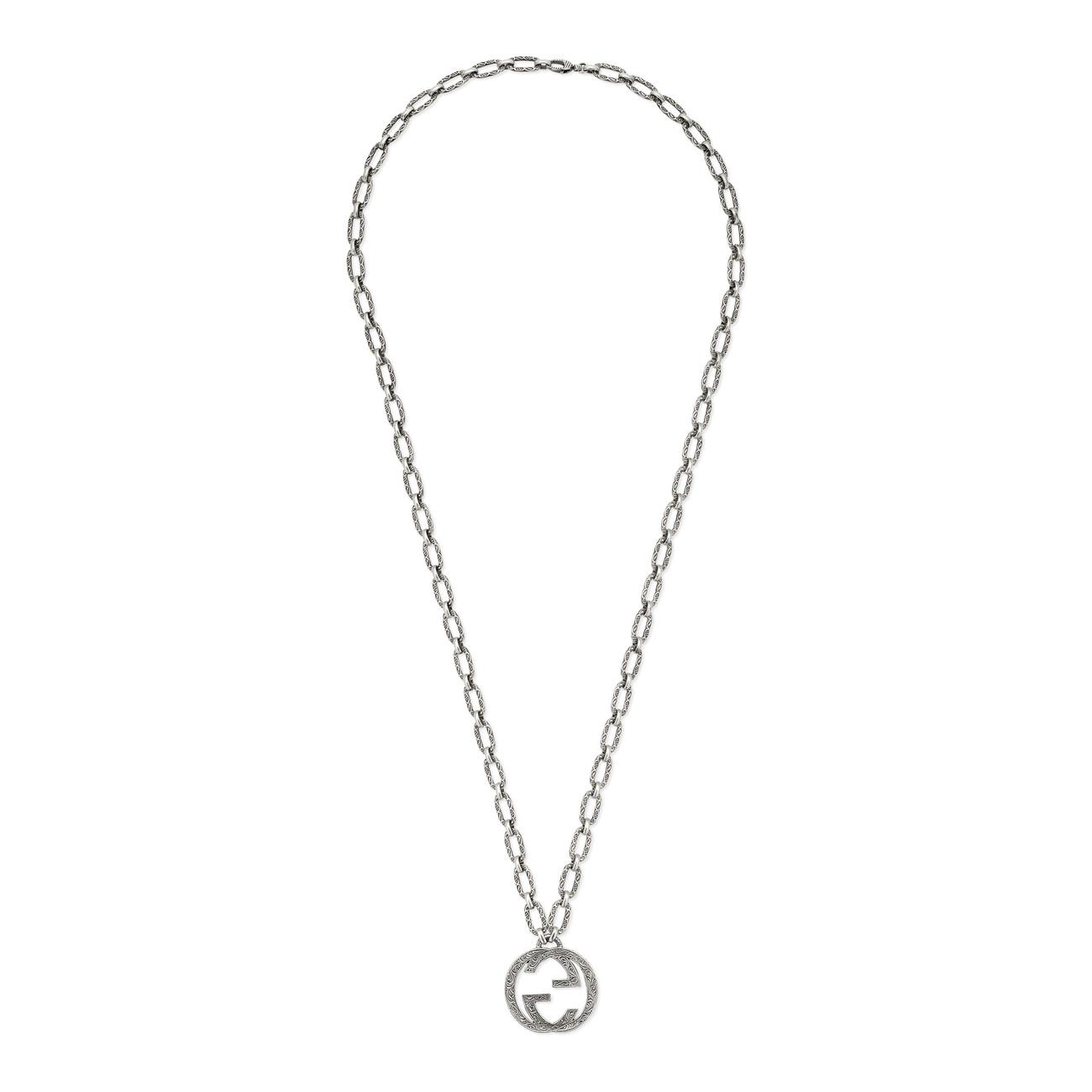 ee93e5ae9 Gucci Men S Sterling Silver Interlocking G Pendant Necklace ...