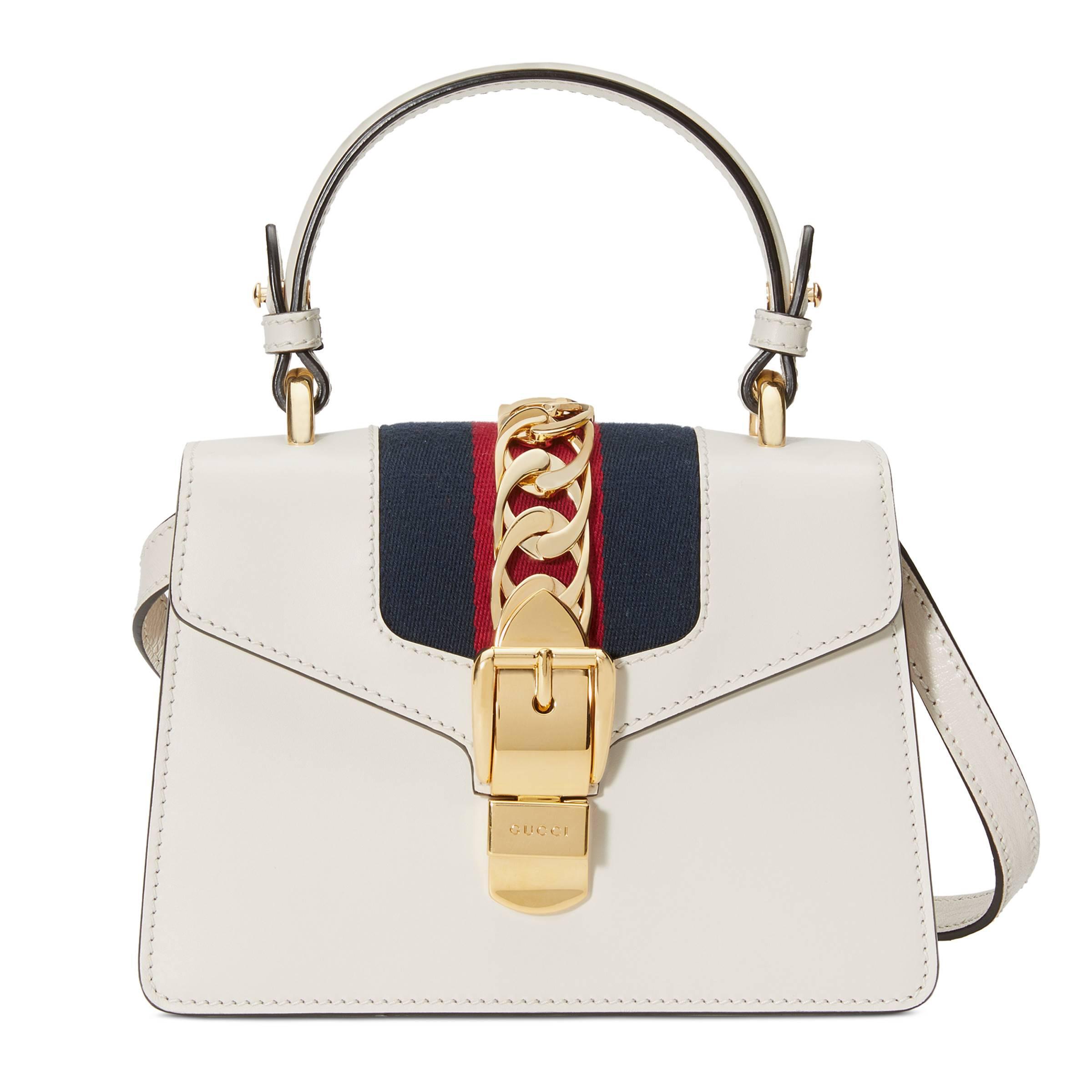 45271f6cba9 Gucci - White Mini sac Sylvie en cuir - Lyst. Afficher en plein écran
