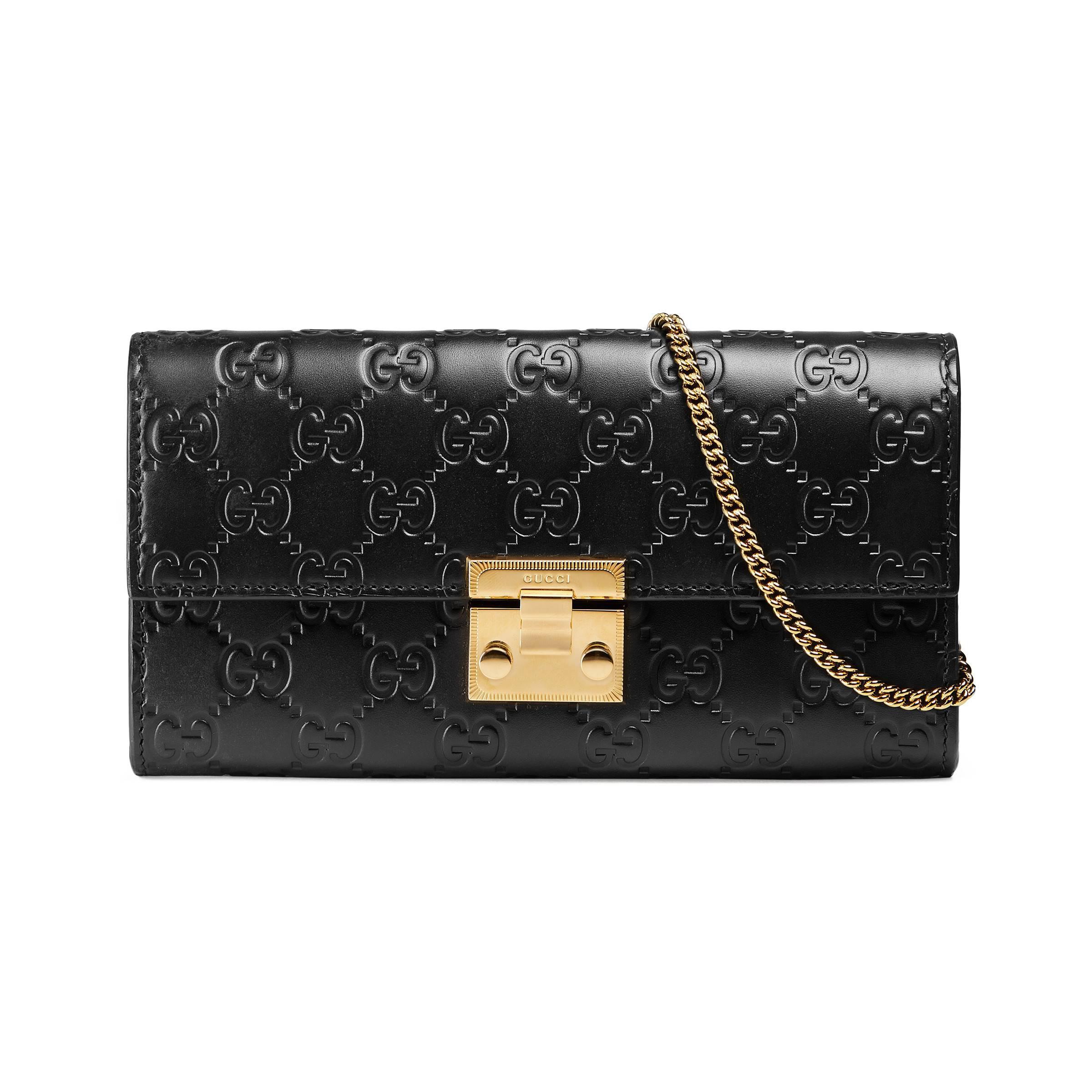05225b49152 Gucci - Black Padlock Continental Wallet - Lyst. View fullscreen