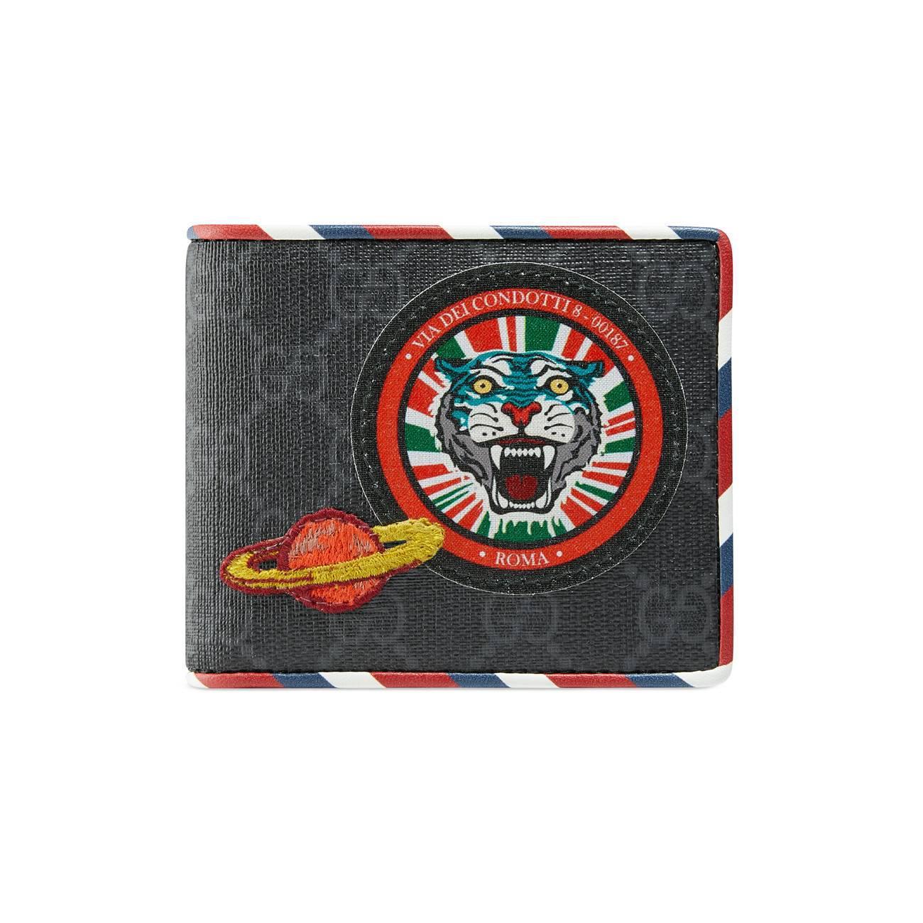 7932330d350c11 Gucci Black Courrier GG Supreme Wallet in Black for Men - Save 32 ...