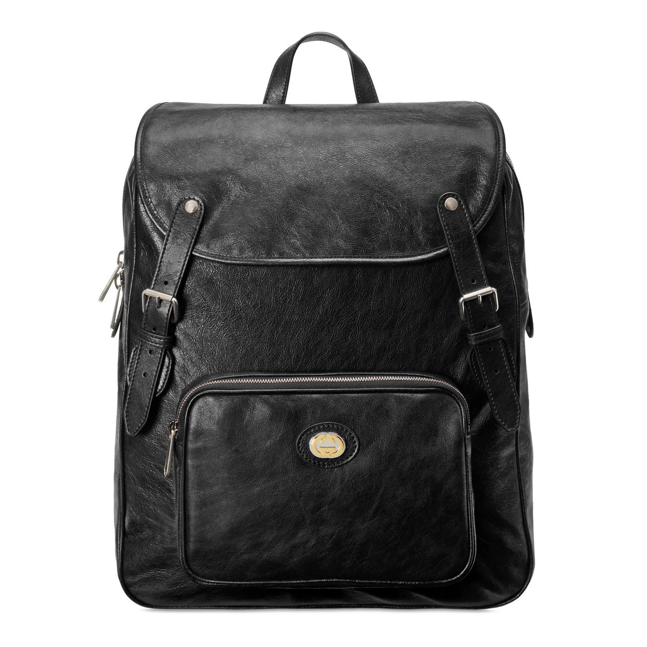 742b561204ce Lyst - Gucci Medium Soft Leather Backpack in Black for Men