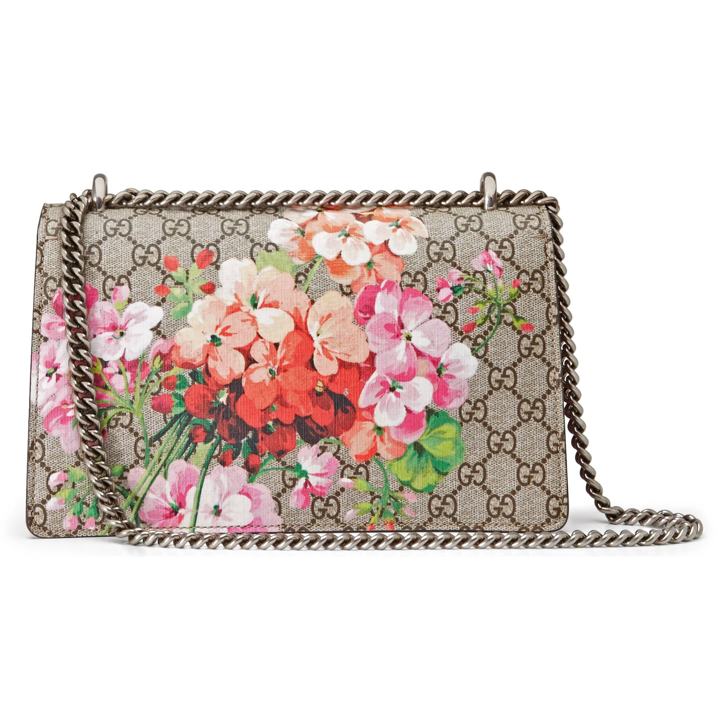 0ae85e0645 Sac à épaule Dionysus petite taille à motif GG Blooms Gucci en ...
