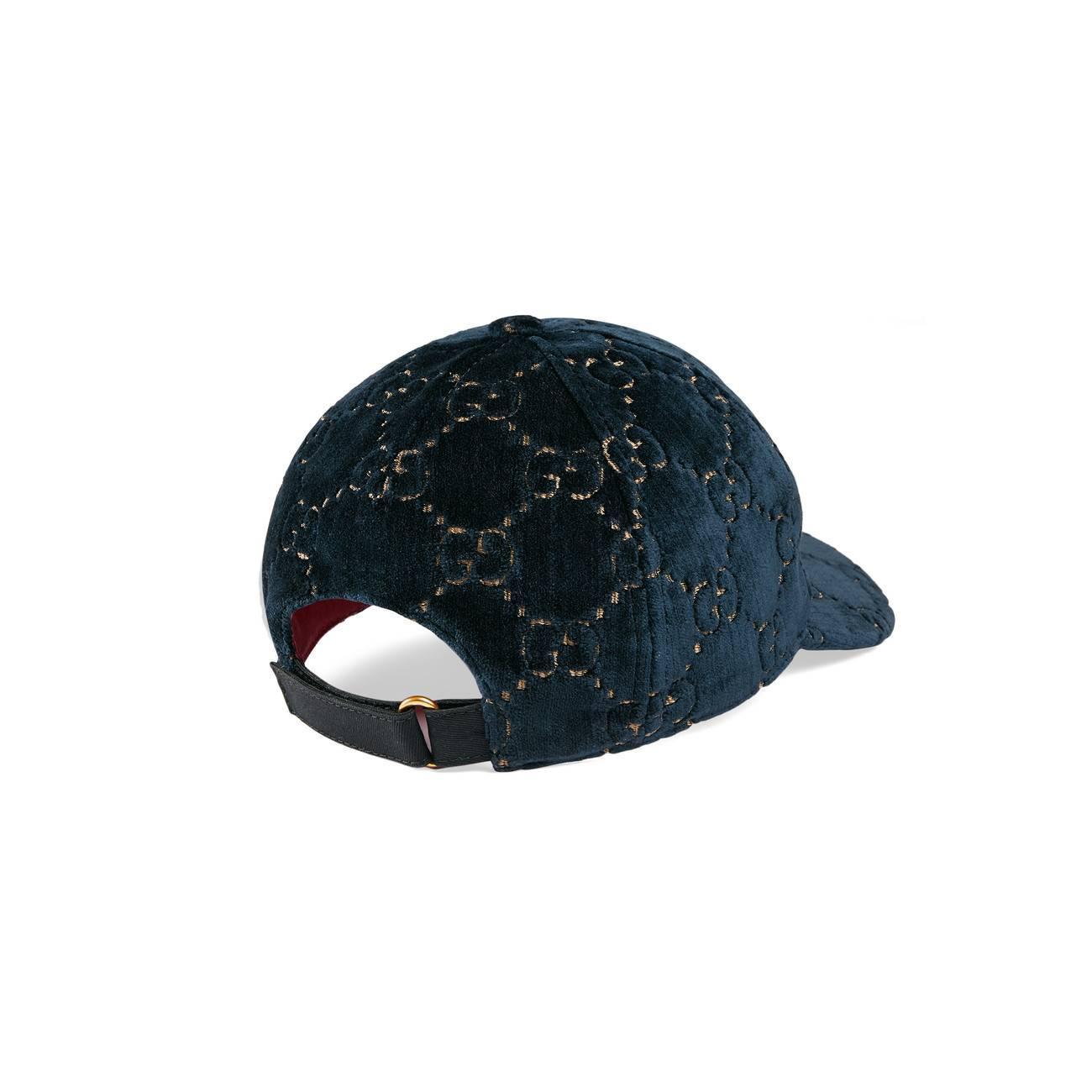 Gucci - Blue GG Velvet Baseball Cap - Lyst. View fullscreen 1e5d90c7efd0