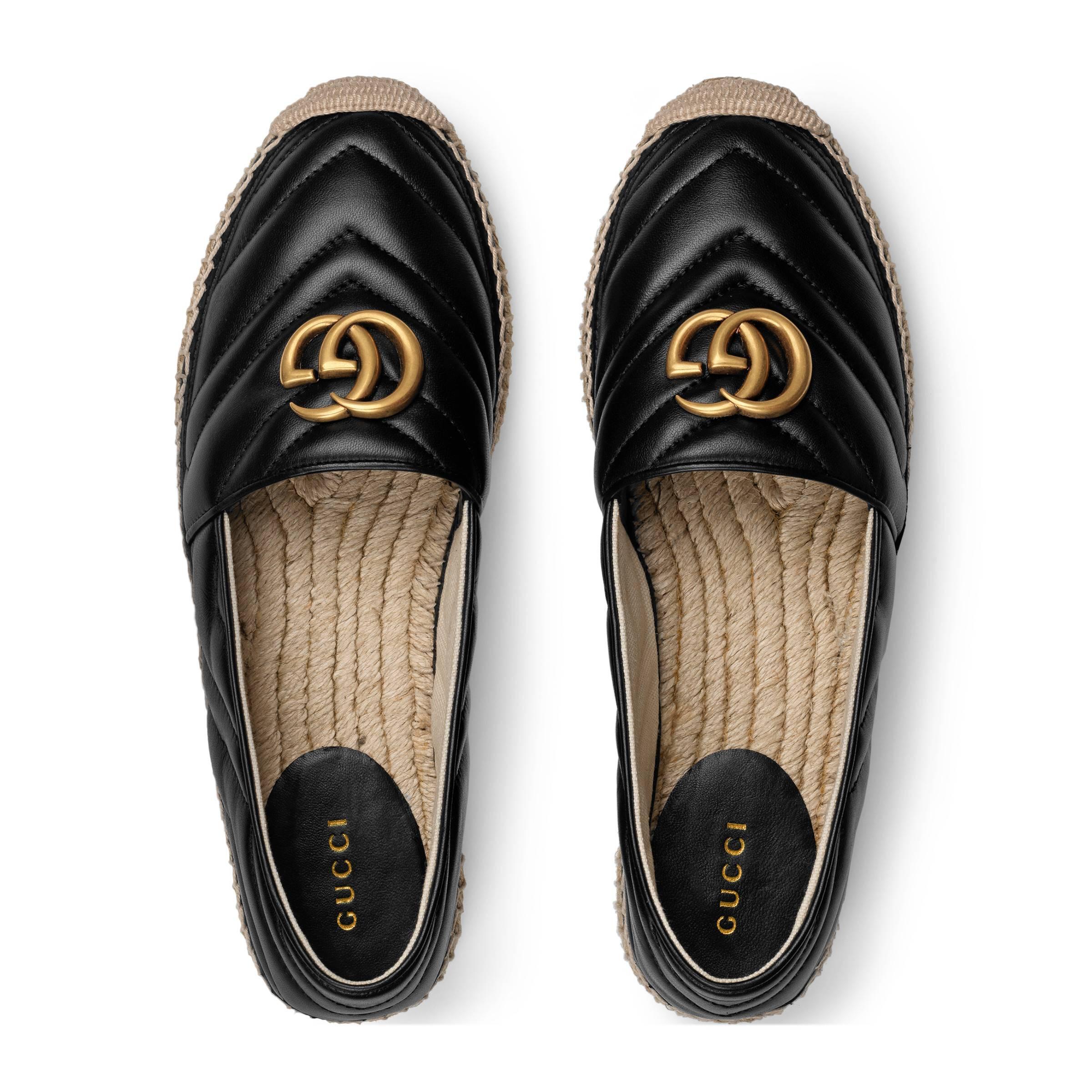 Gucci - Black Alpargata de Piel con Doble G - Lyst. Ver en pantalla completa fb90b32d001