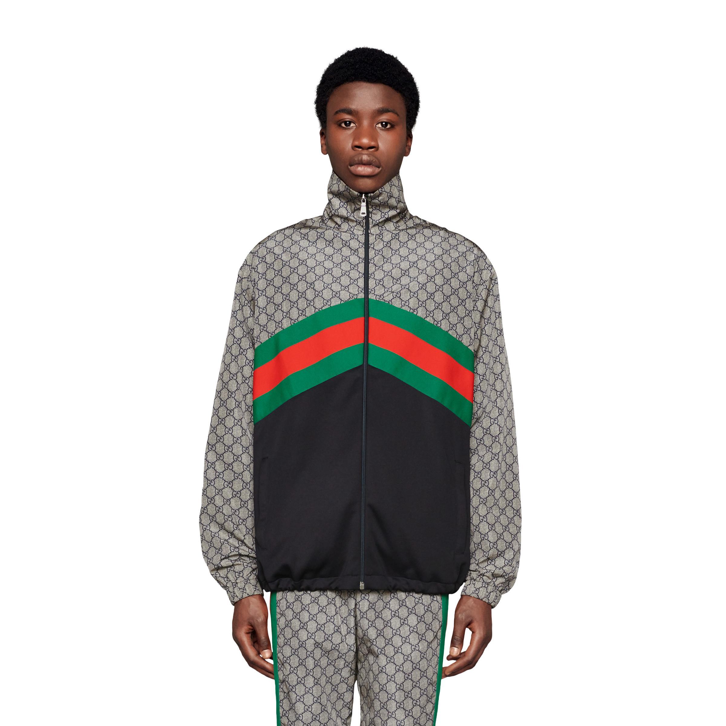 Gucci - Gray Giacca Oversize In Jersey Tecnico for Men - Lyst. View  fullscreen b62fdfbb8de3