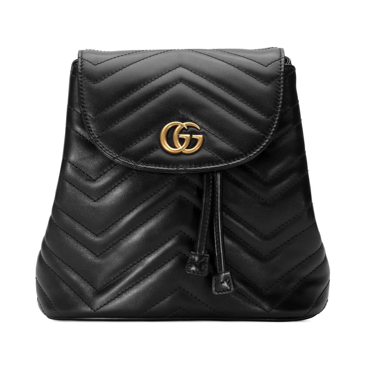 Gucci. Women s Black Gg Marmont 2.0 Matelasse Leather Mini Backpack - d28b5c50629aa