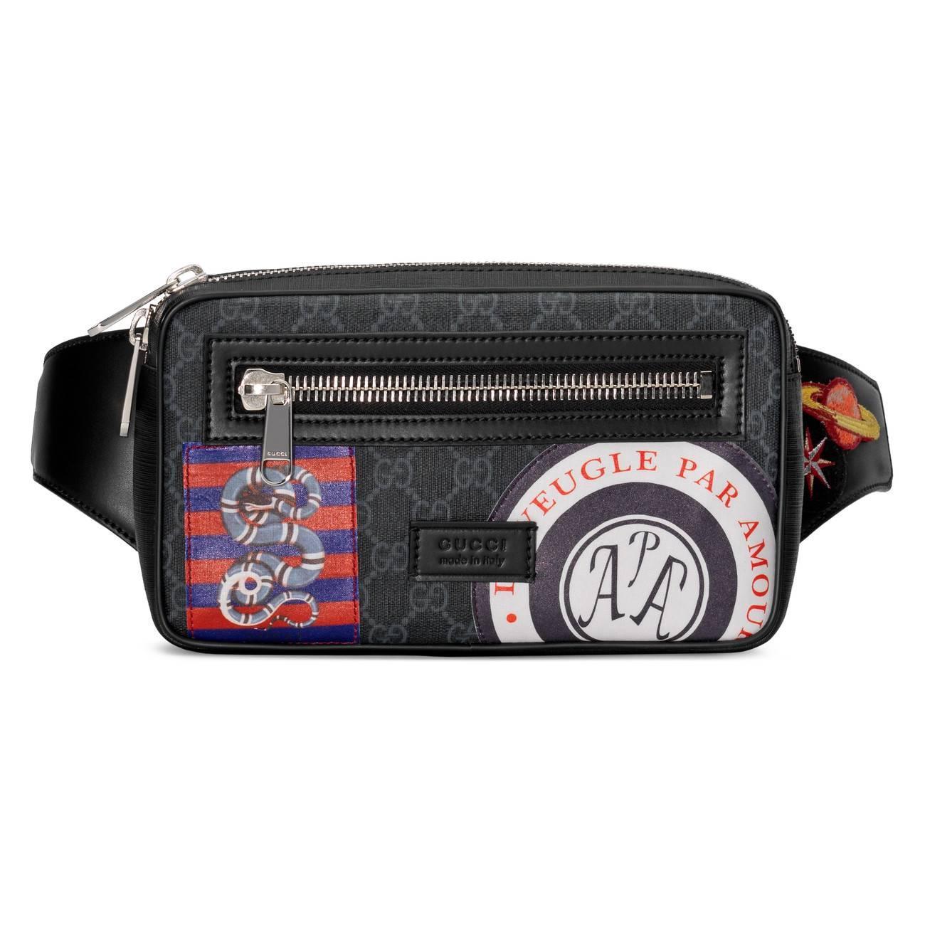 59eb943e8 Gucci Night Courrier Soft GG Supreme Belt Bag in Black for Men - Lyst