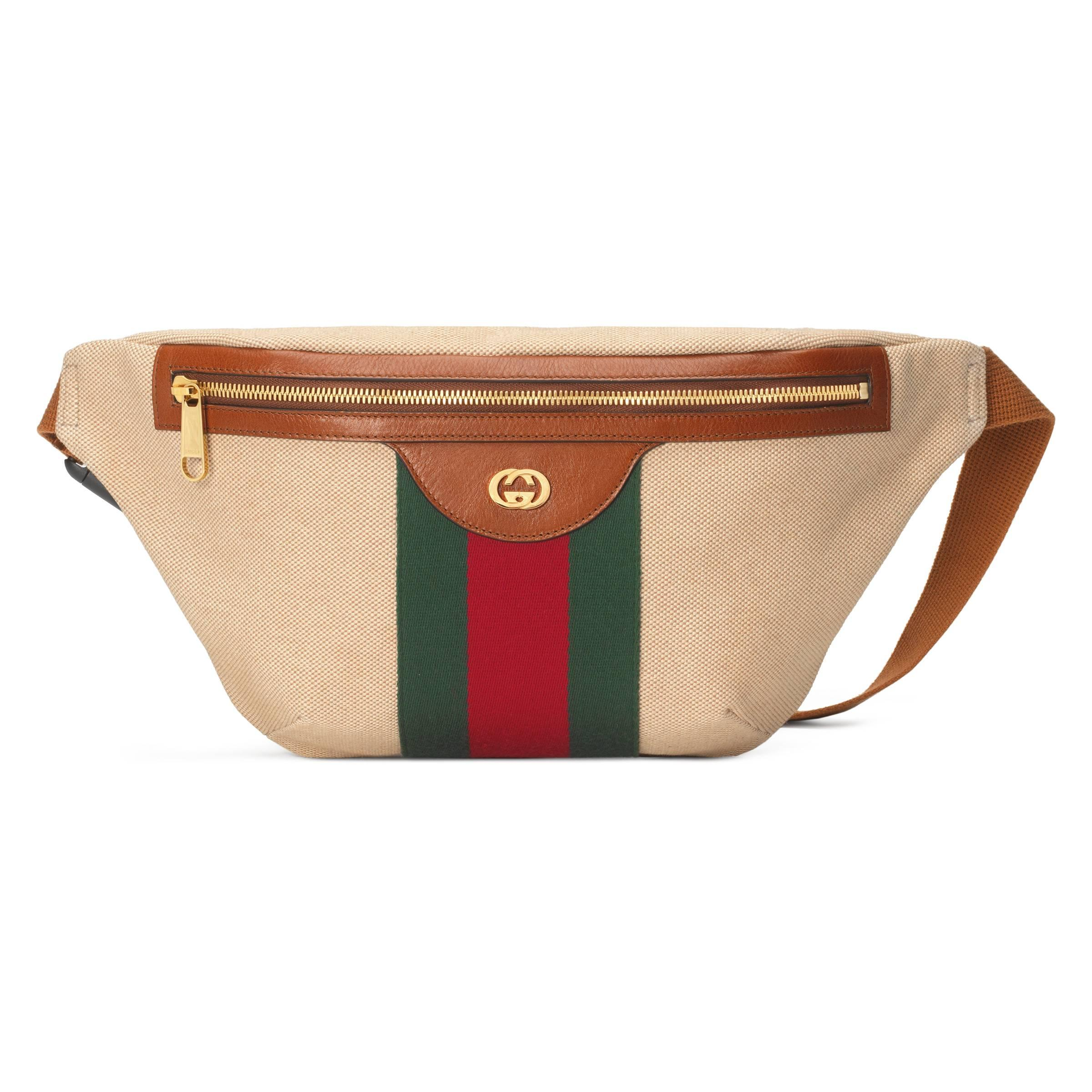 d2d63652124 Lyst - Sac ceinture en toile vintage Gucci pour homme en coloris Neutre