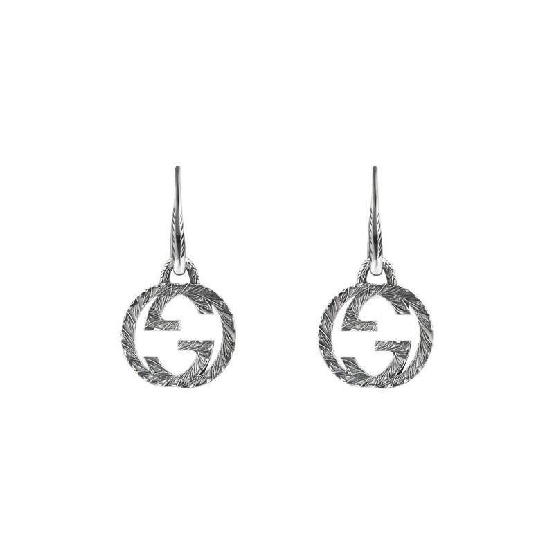 b7e595f9be9 Lyst - Gucci Interlocking G Earrings In Silver in Metallic