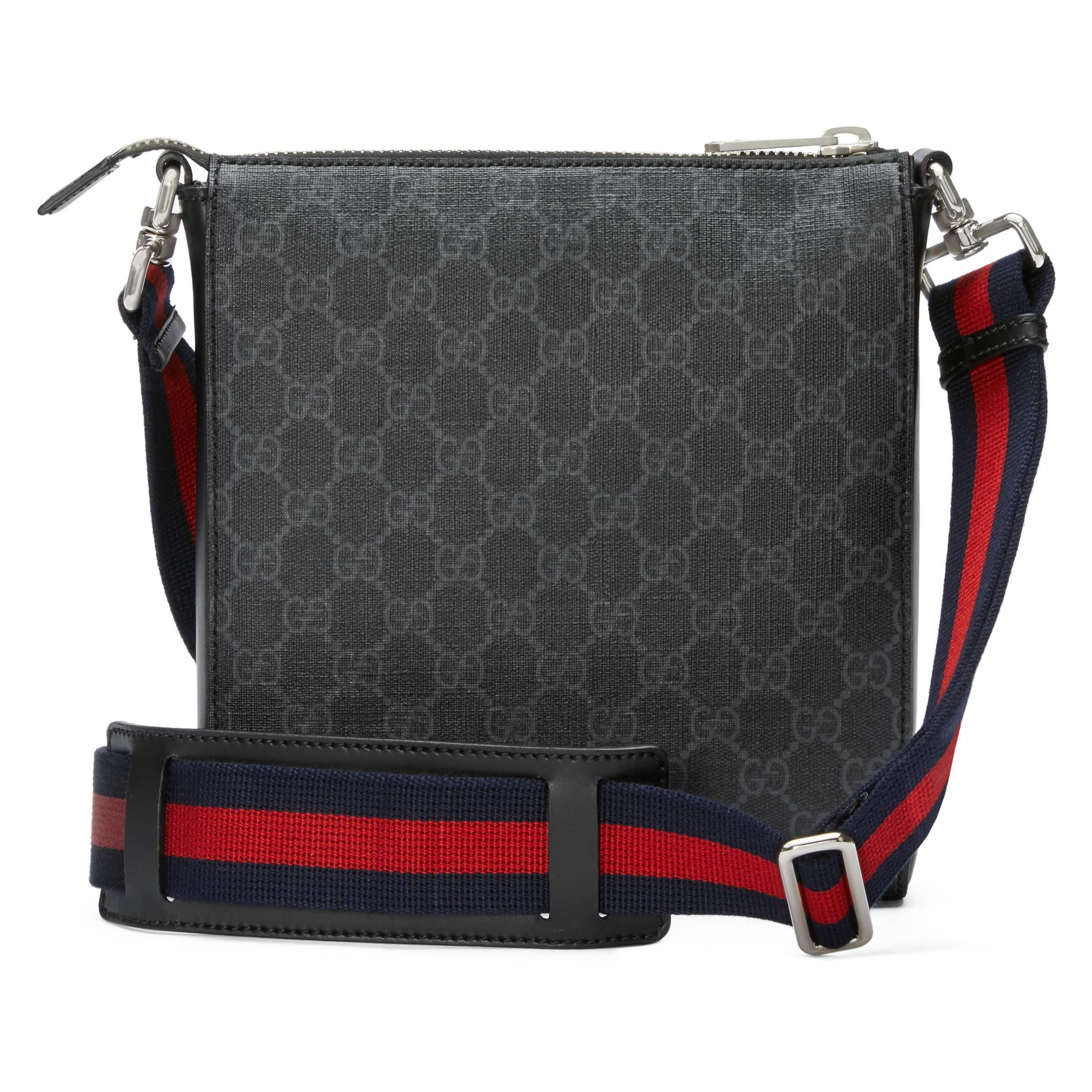 d1f014fb59f1 Gucci - Black Night Courrier GG Supreme Messenger for Men - Lyst. View  fullscreen