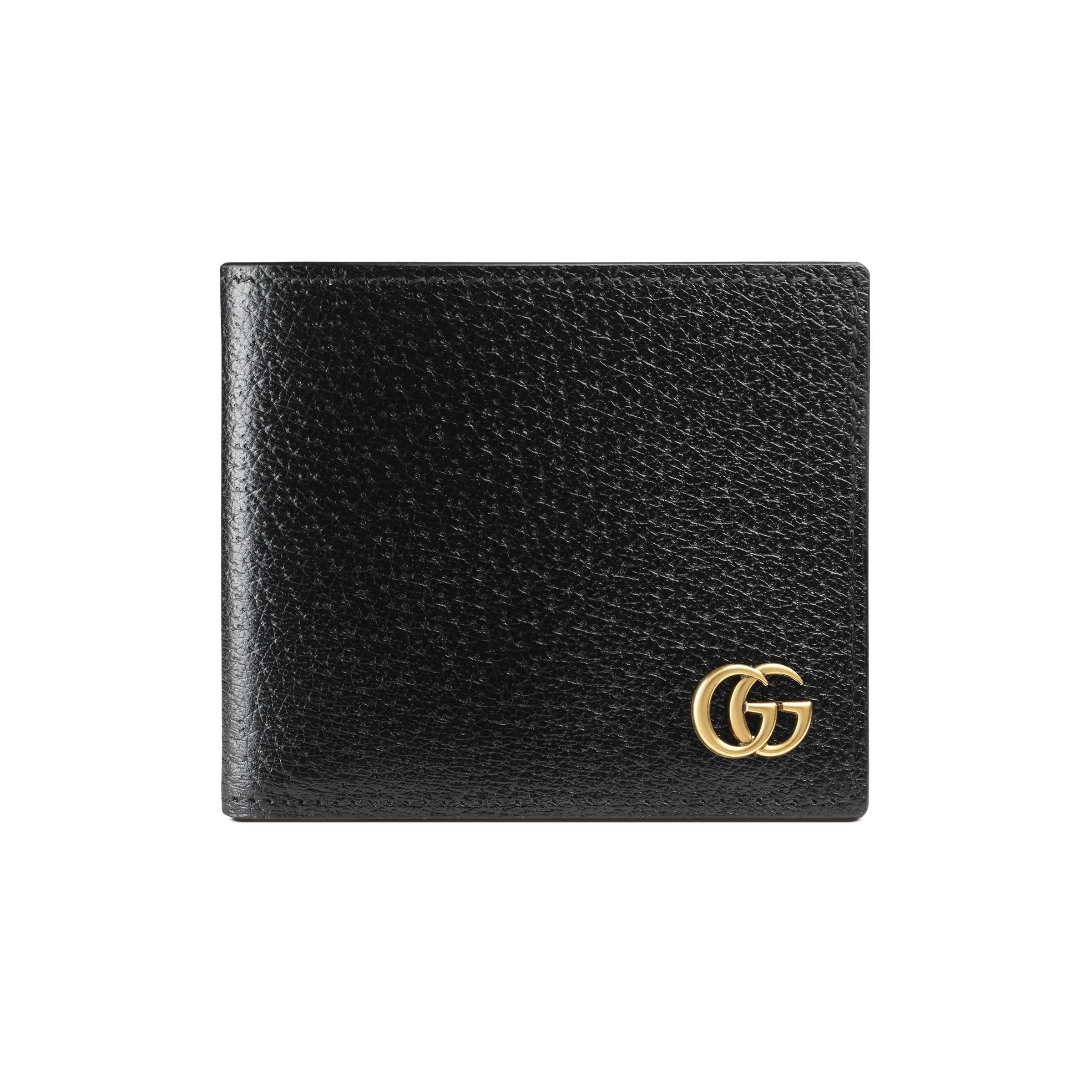 60debe19530 Gucci GG Marmont Leather Bi-fold Wallet in Black for Men - Save 18 ...