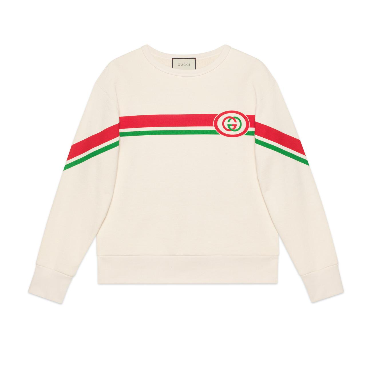 737920c8fb Lyst - Gucci Sweatshirt With Interlocking G Print in White for Men